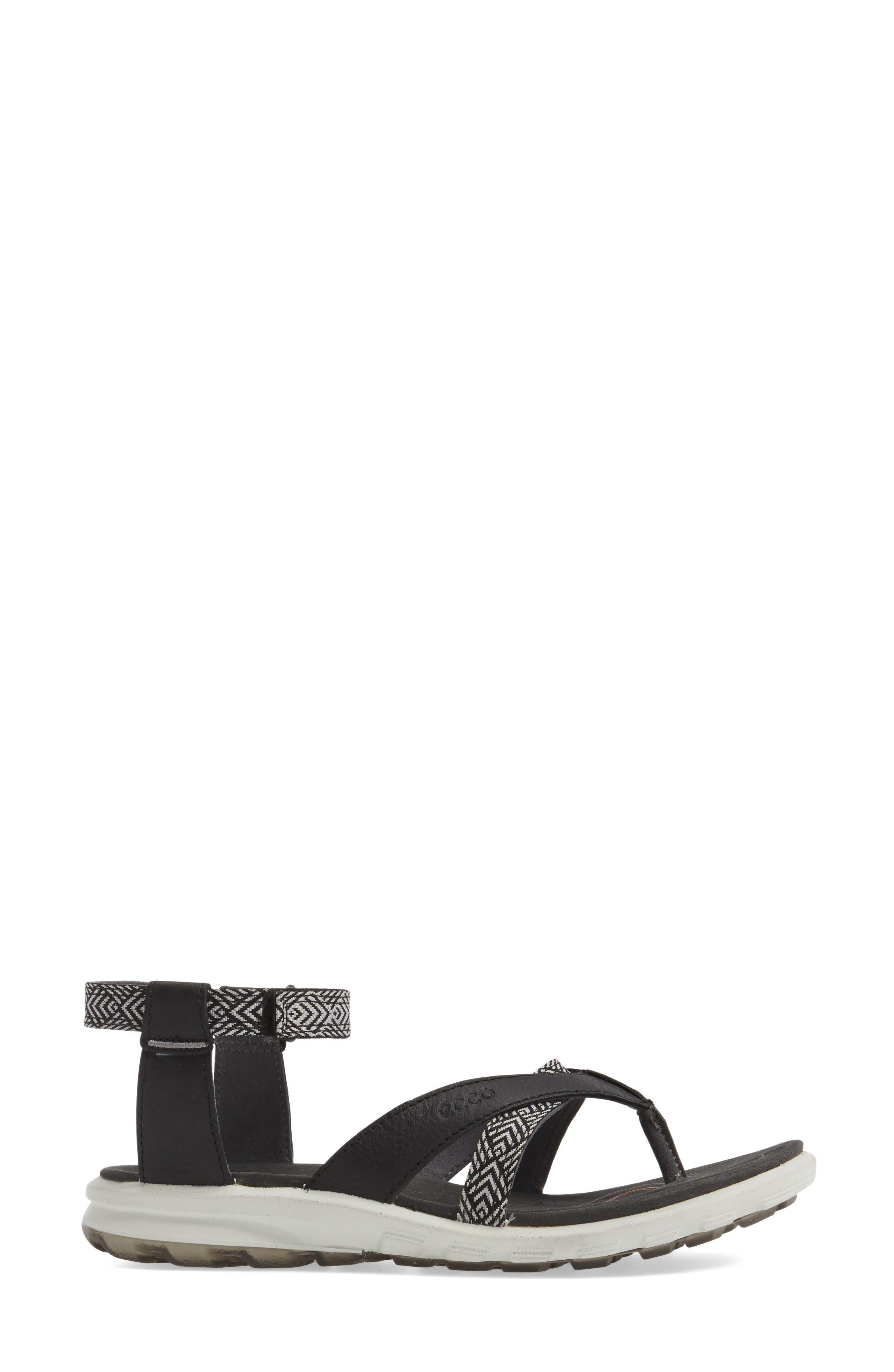 Cruise Sport Sandal,                             Alternate thumbnail 3, color,                             Black Leather