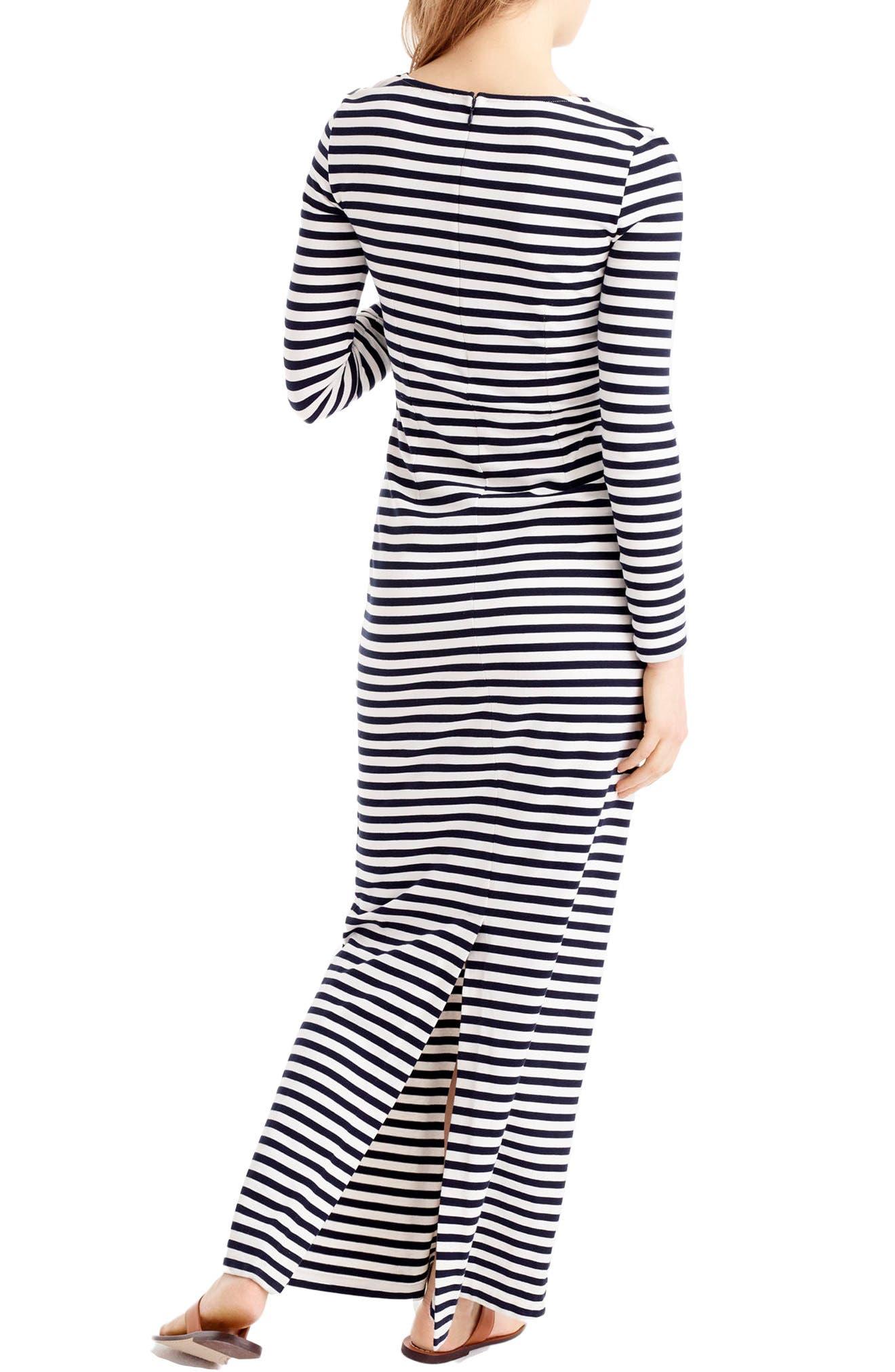 Alternate Image 3  - J.Crew Long Sleeve Stripe Maxi Dress