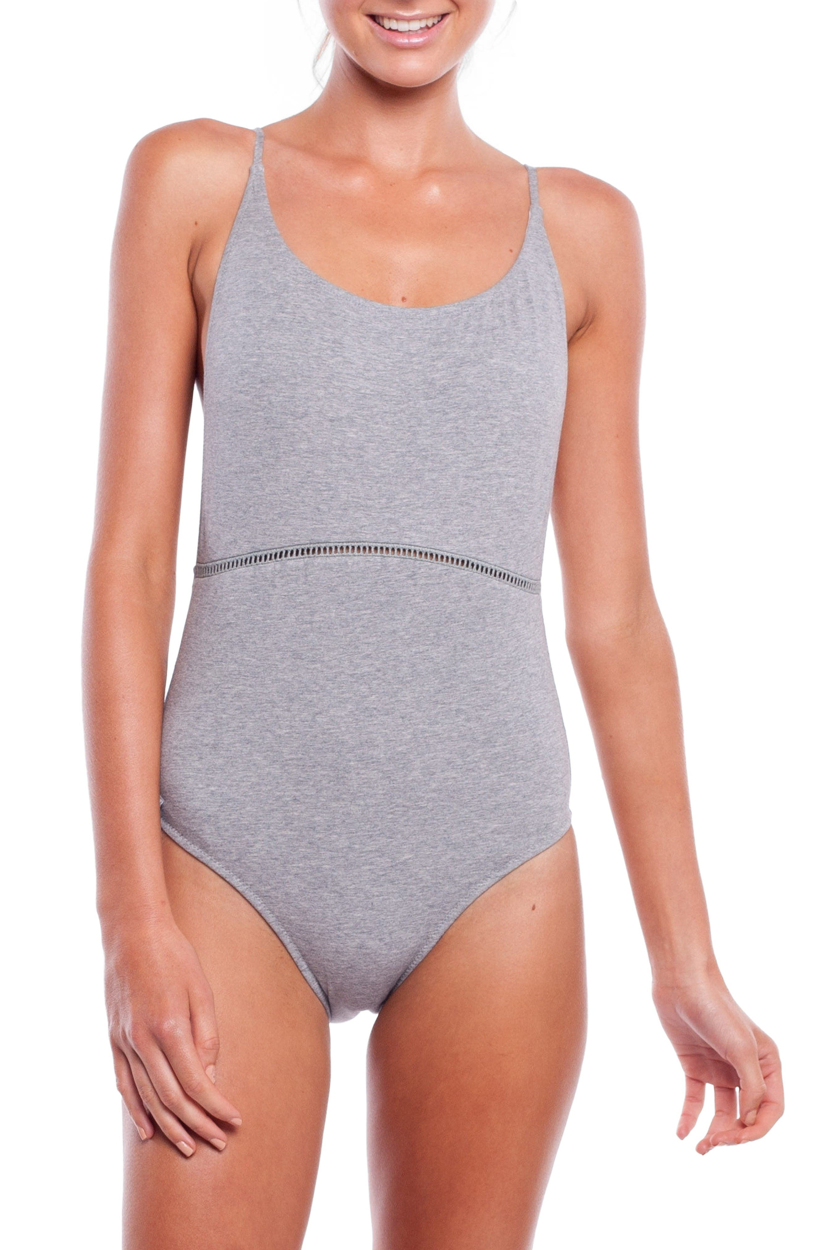 My Scoop One-Piece Swimsuit,                             Main thumbnail 1, color,                             Grey