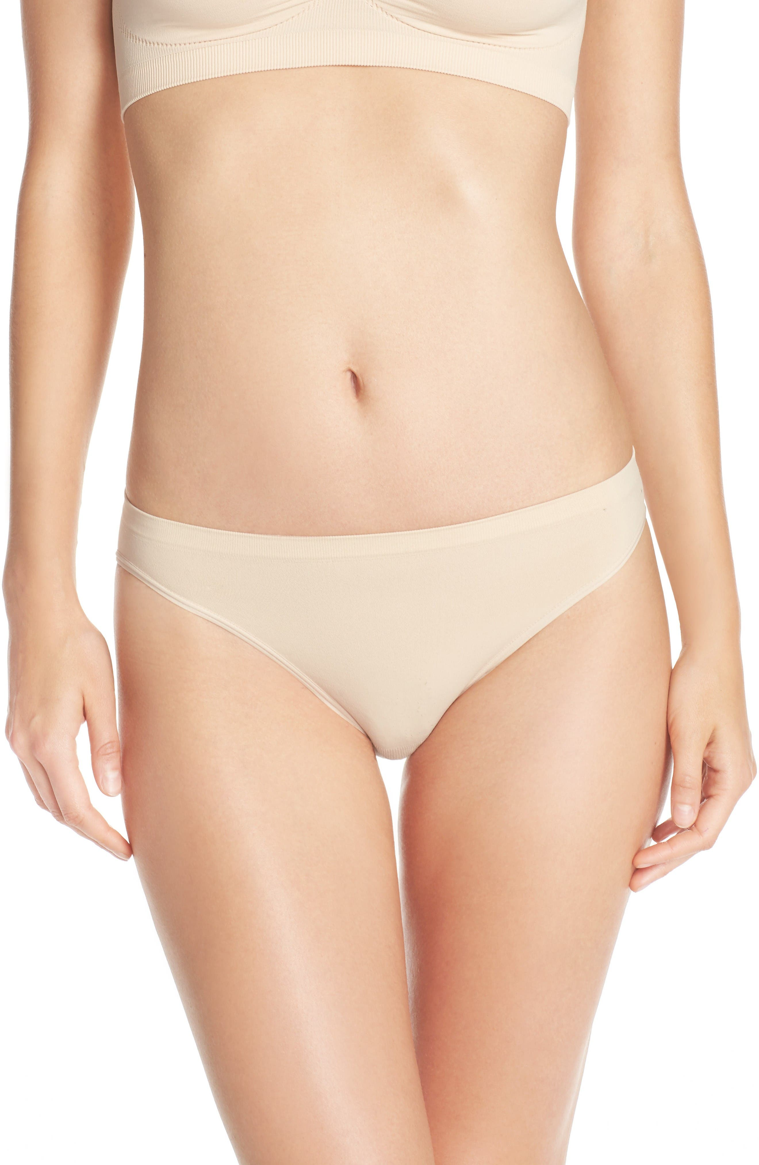 NORDSTROM LINGERIE Seamless High Cut Briefs