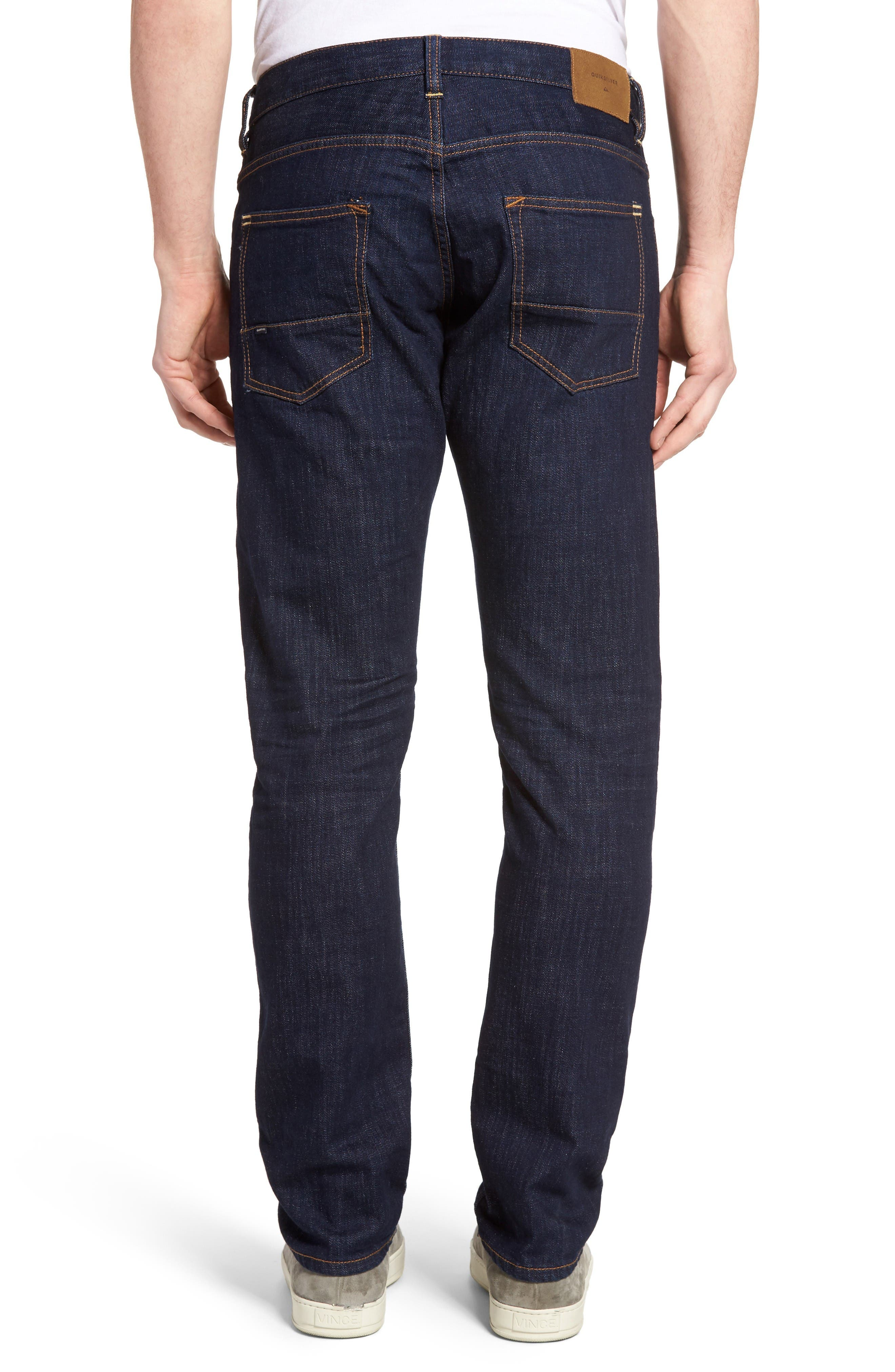 Alternate Image 2  - Quiksilver Revolver Slim Fit Jeans (Rinse)