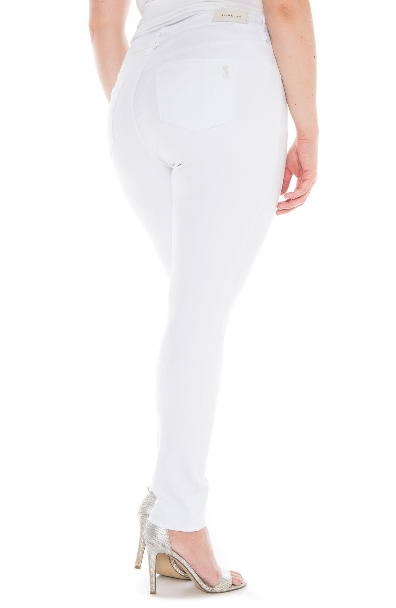 Slit Knee Skinny Jeans,                             Alternate thumbnail 2, color,                             Lexy