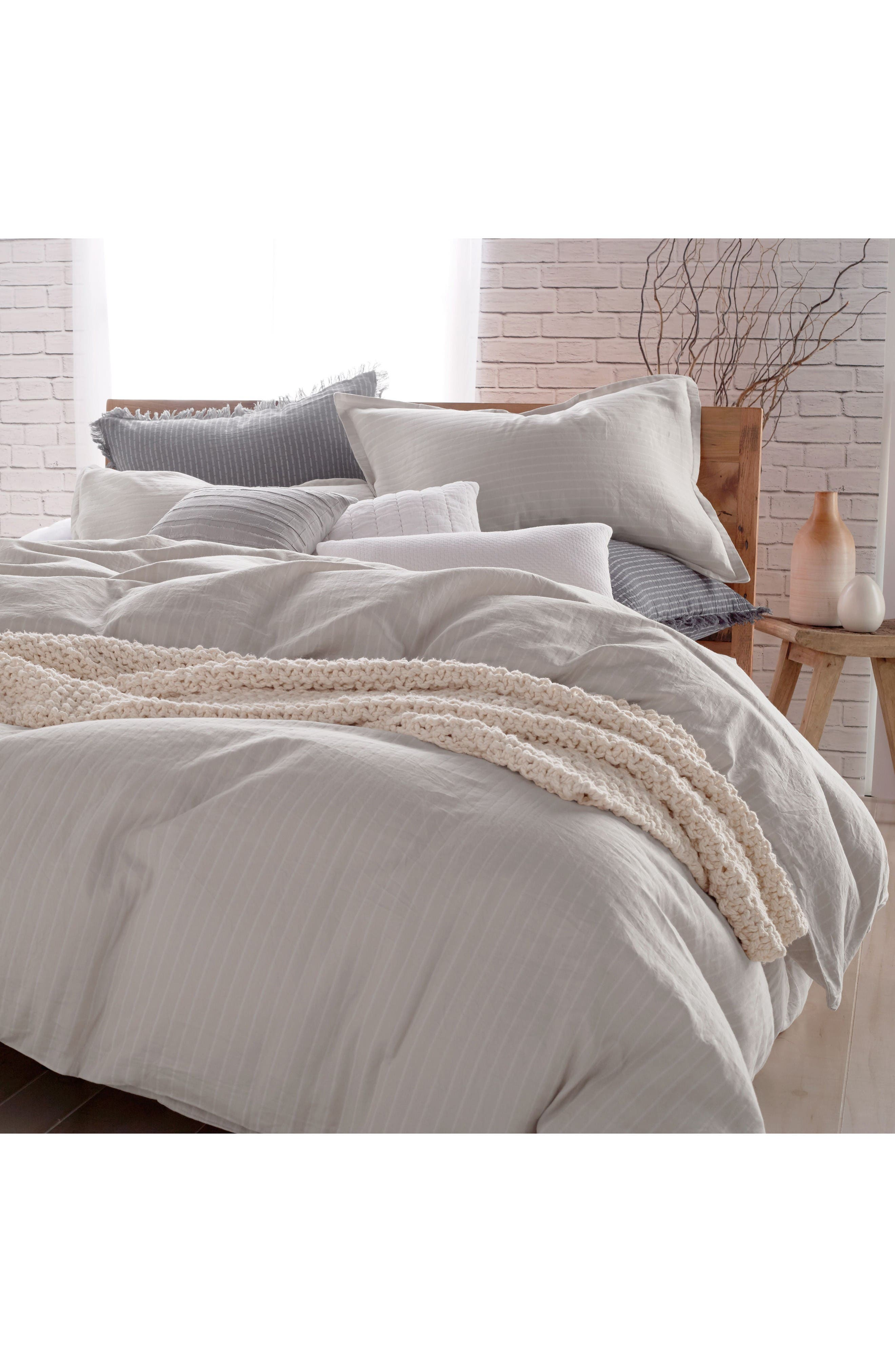 Alternate Image 1 Selected - DKNY PURE Comfy Platinum Duvet Cover