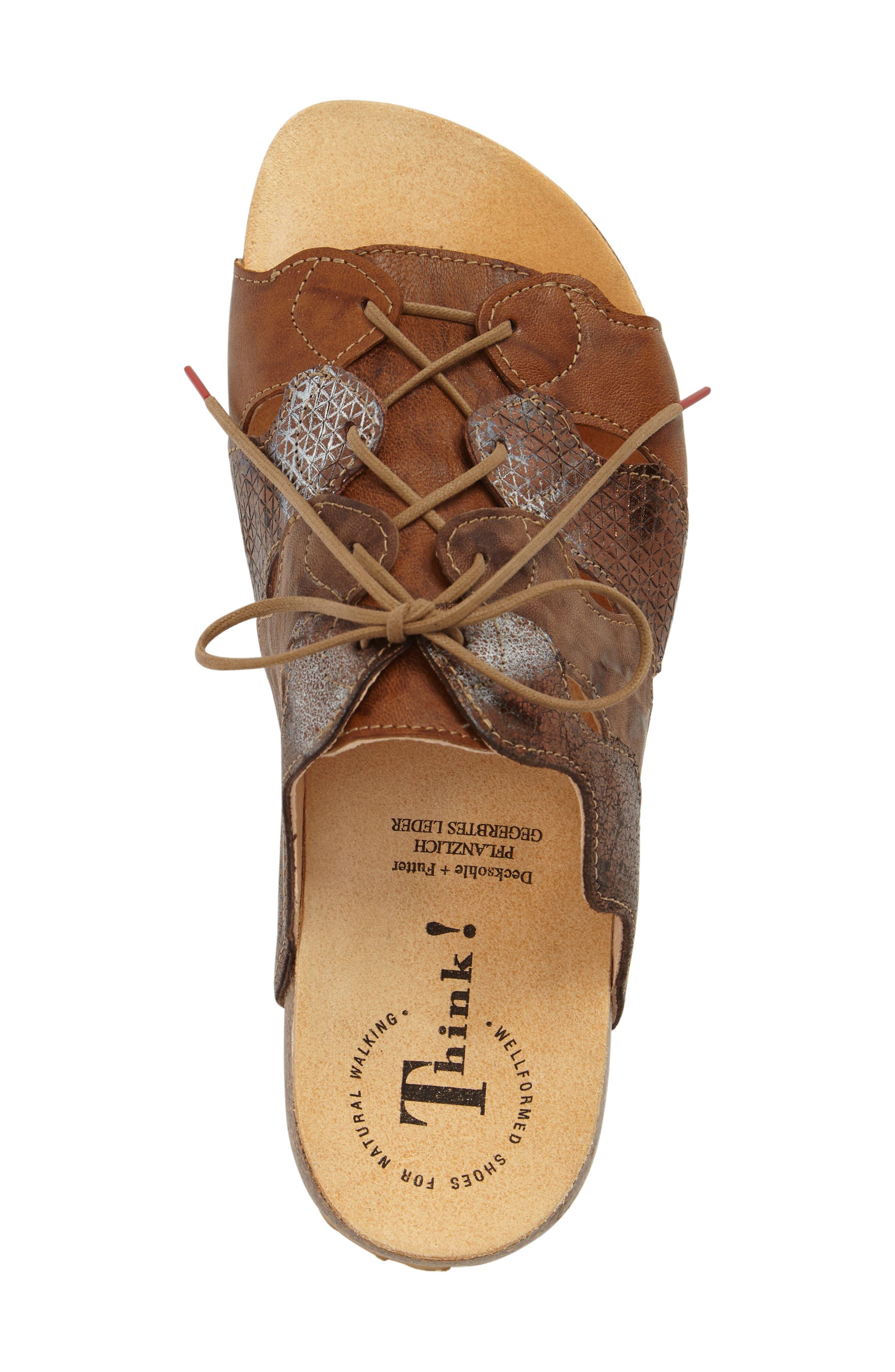 Julia Sandal,                             Alternate thumbnail 5, color,                             Lion Brown Leather