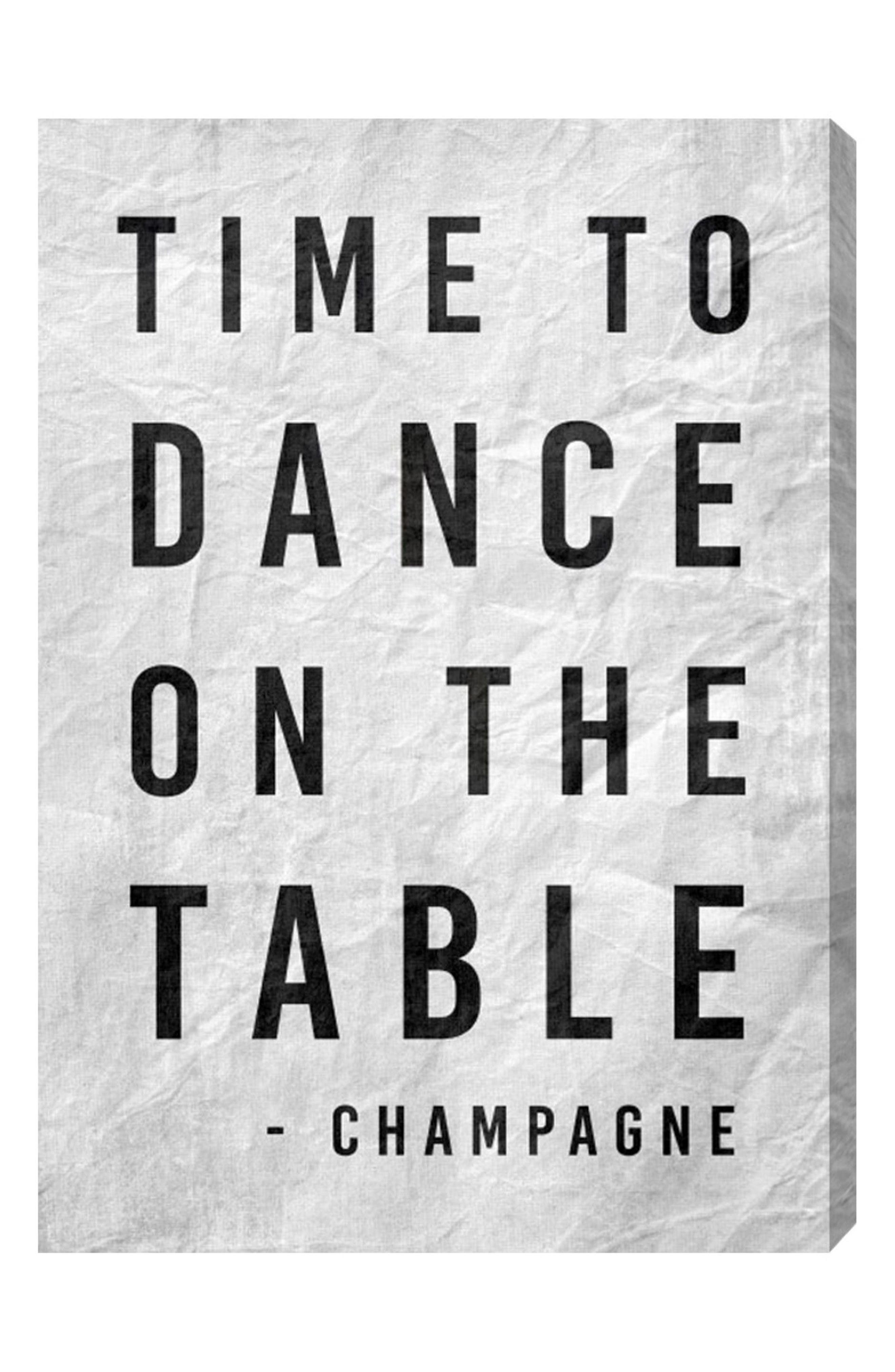 Main Image - Oliver Gal Time to Dance Canvas Wall Art
