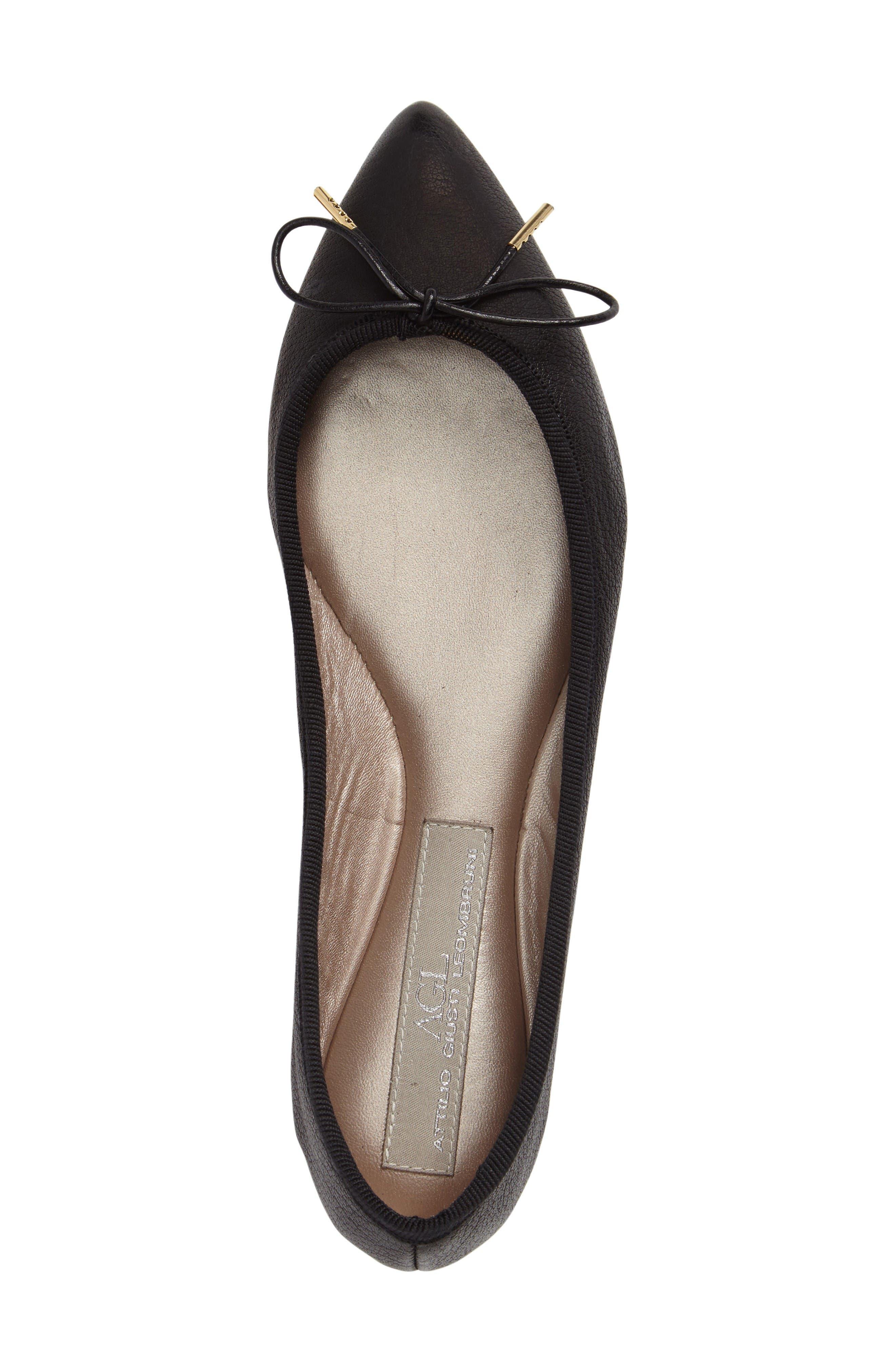 Alternate Image 5  - AGL Sacchetto Pointy Toe Flat (Women)