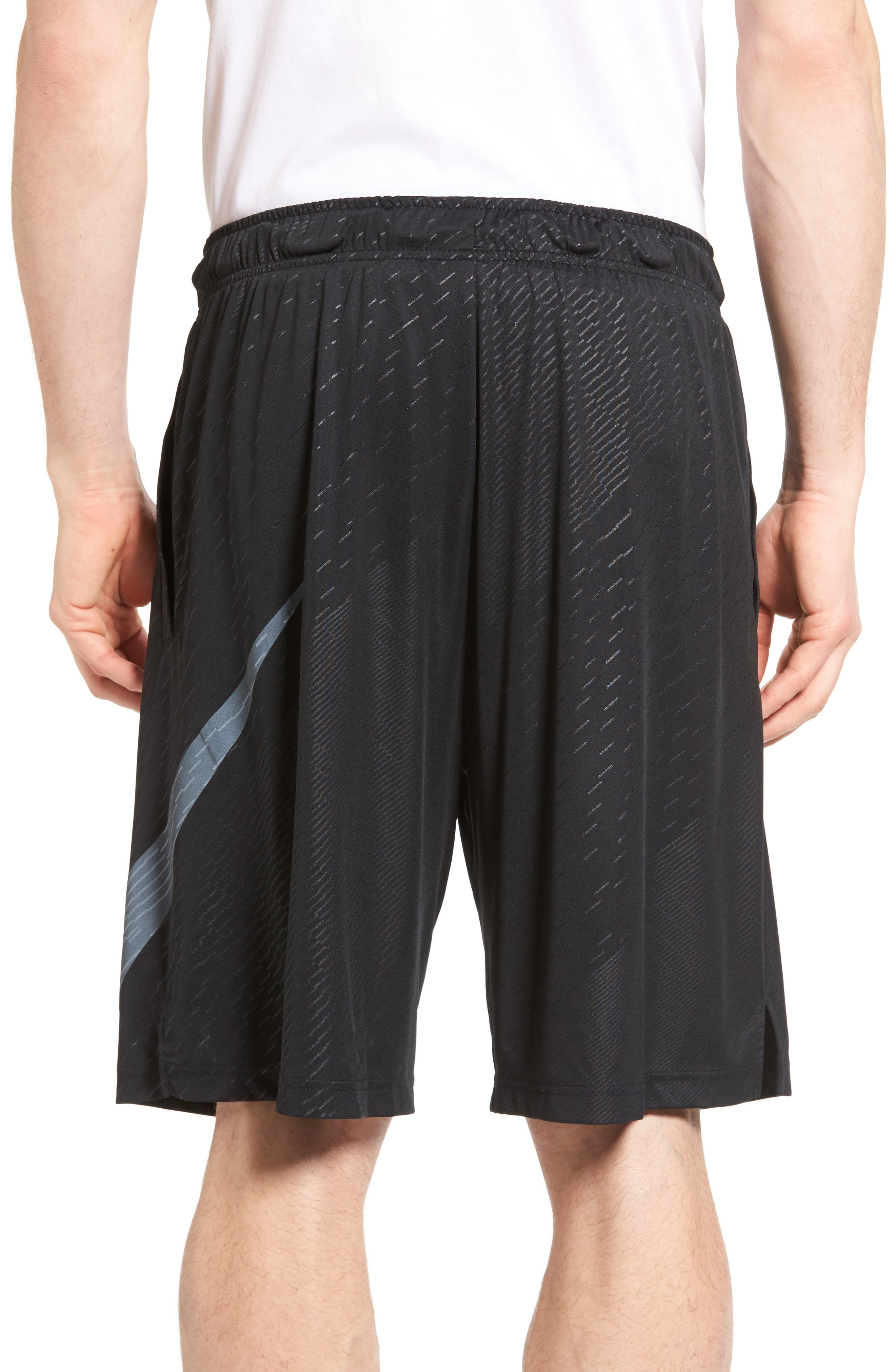Dry Training Shorts,                             Alternate thumbnail 2, color,                             Black/ White