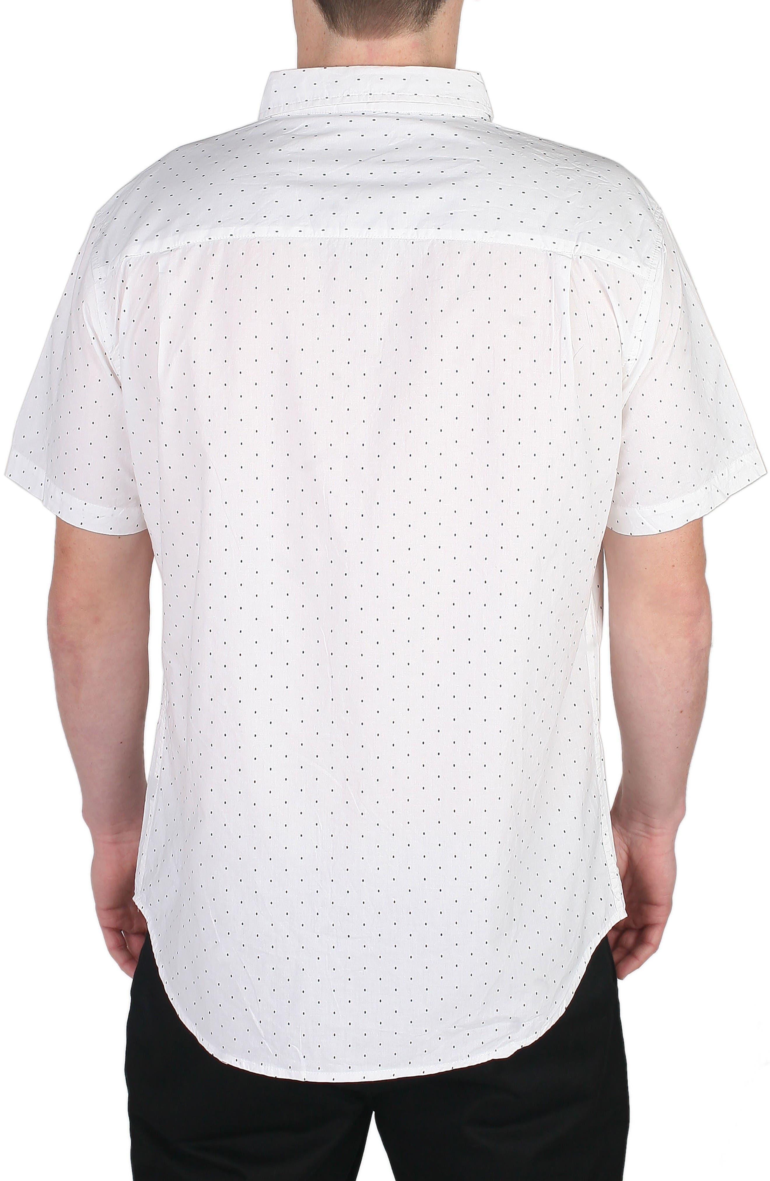 Winston Dot Print Woven Shirt,                             Alternate thumbnail 2, color,                             White