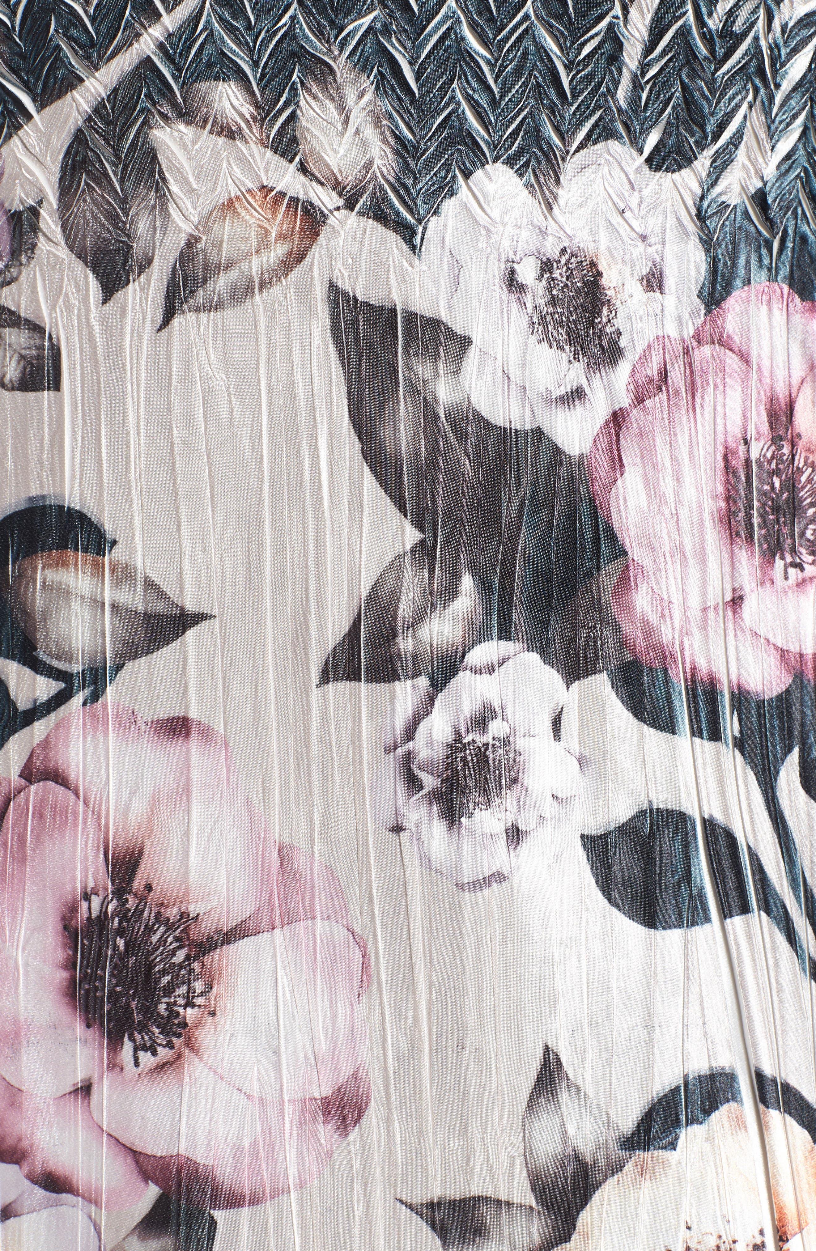 Alternate Image 5  - Komarov Print Lace & Charmeuse Dress (Plus Size)