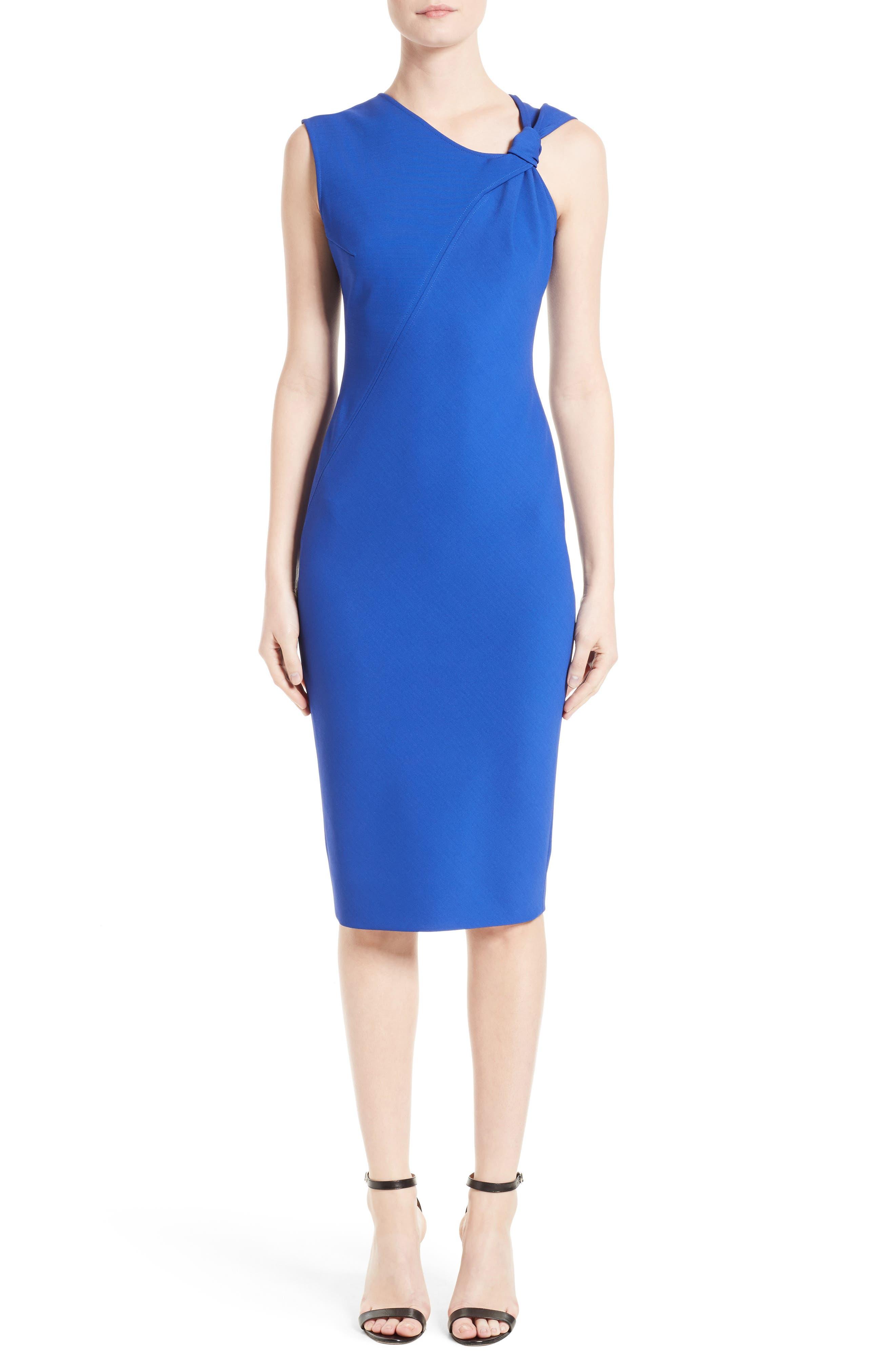 Victoria Beckham Knotted Rib Jersey Dress