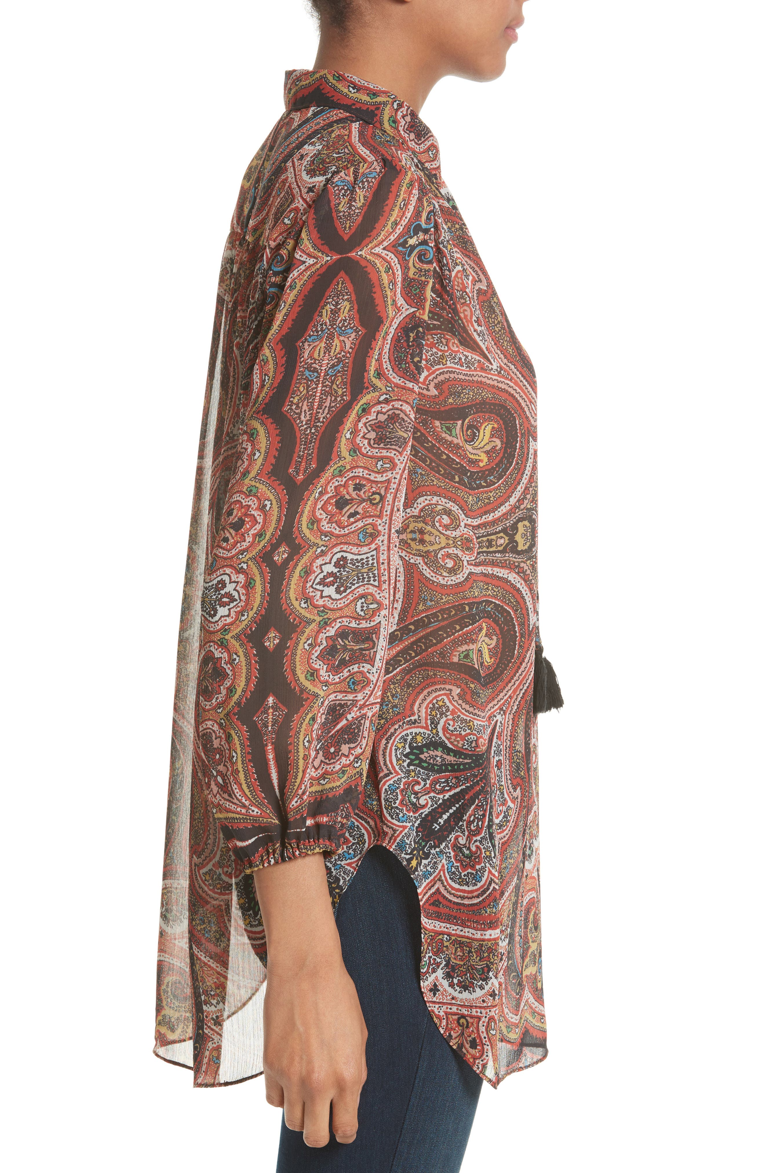 Sterling Tunic,                             Alternate thumbnail 3, color,                             Paisley Scarf