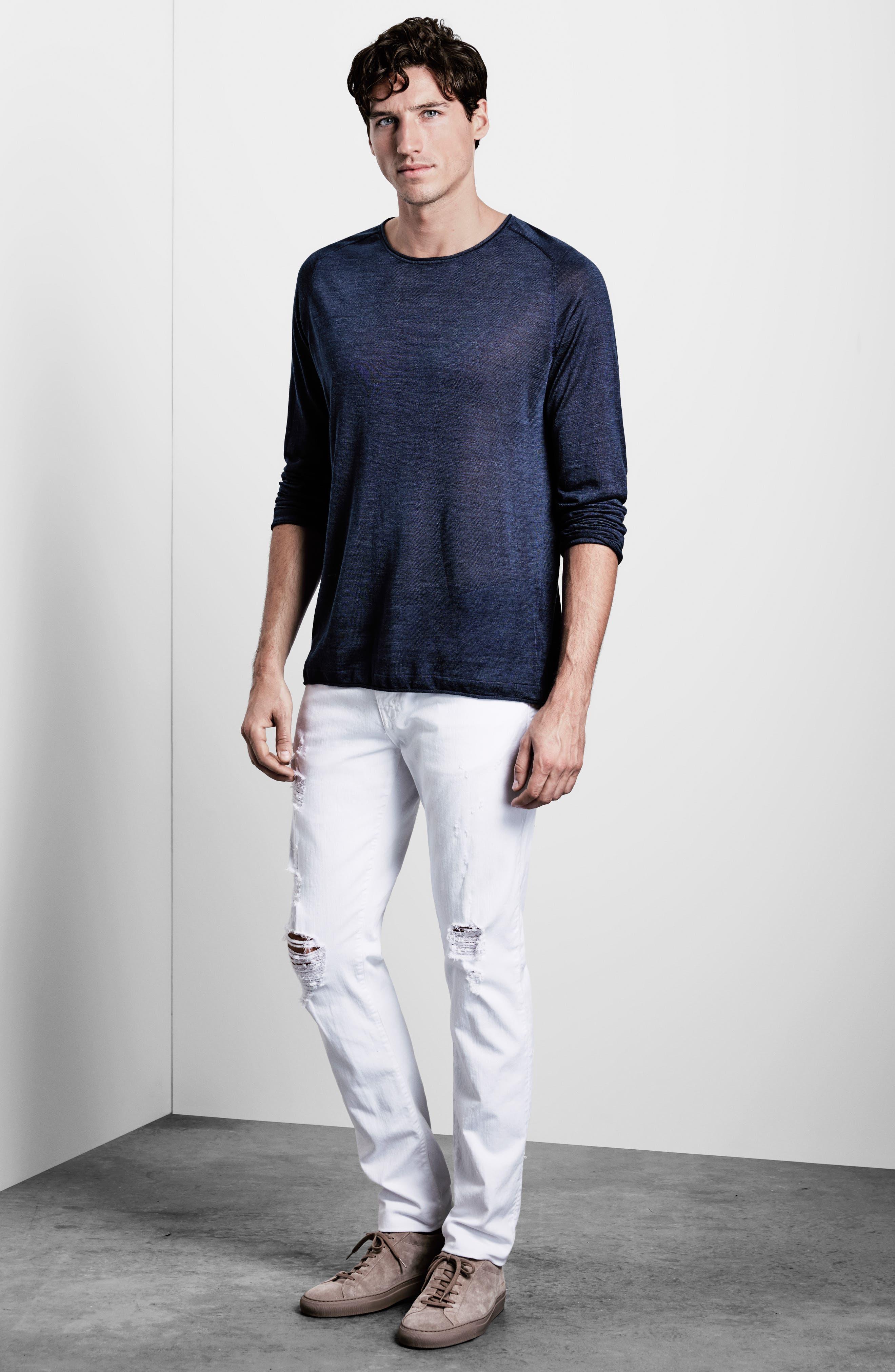 Alternate Image 6  - J Brand Tyler Slim Fit Jeans (Destructed Theoros)