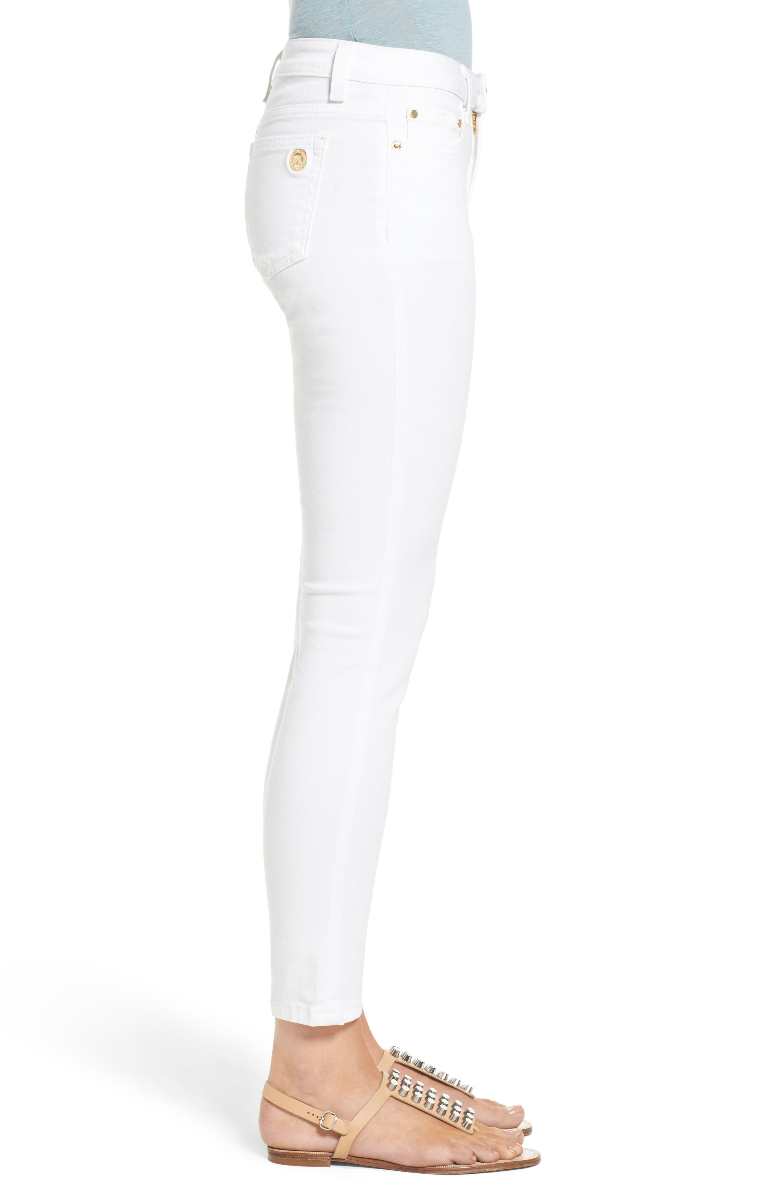 Izzy Ankle Skinny Jeans,                             Alternate thumbnail 3, color,                             White