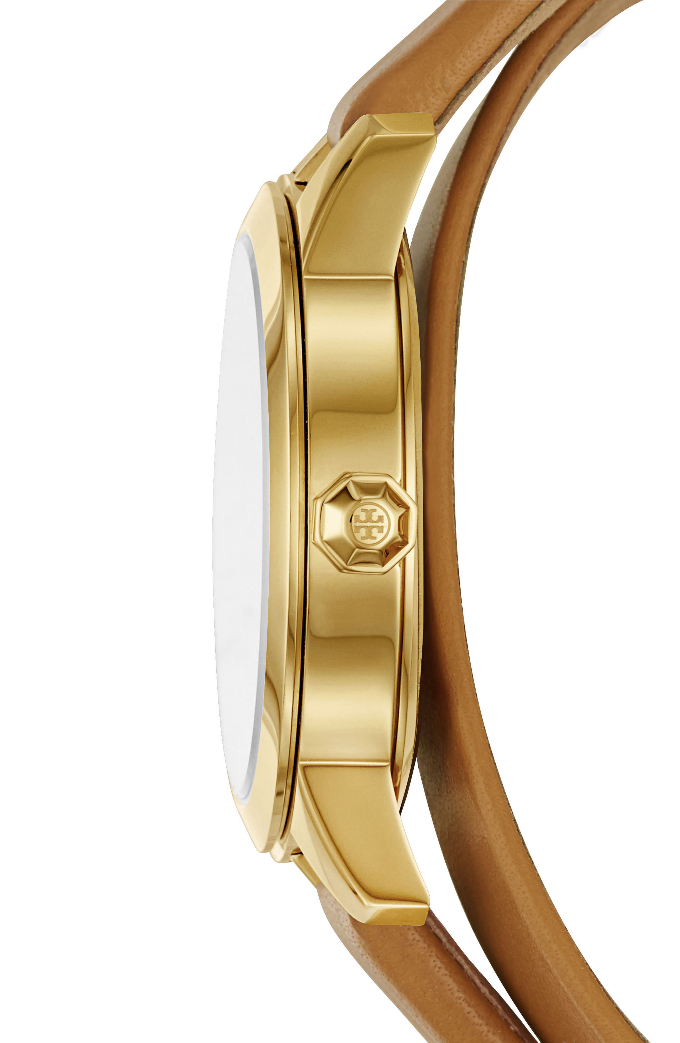 Alternate Image 3  - Tory Burch Collins Double Wrap Leather Strap Watch, 38mm