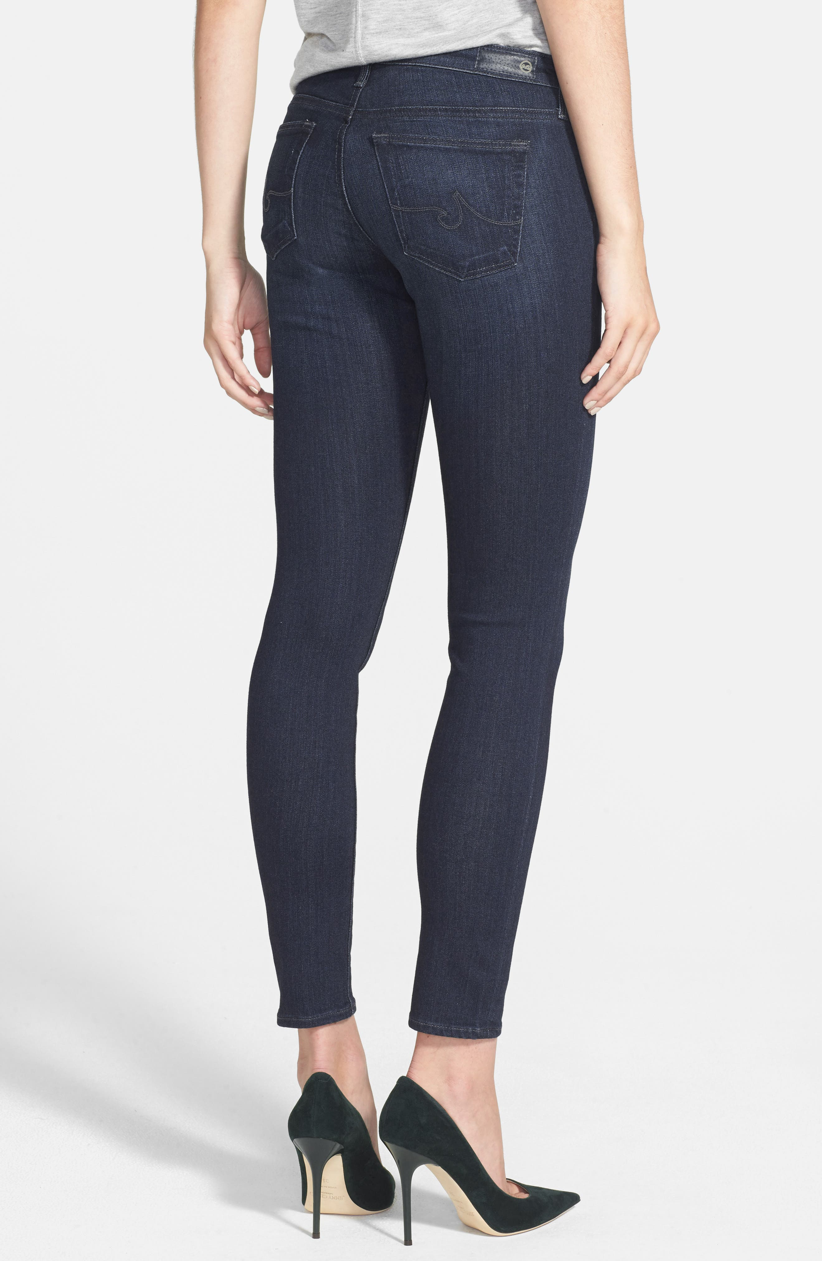 Alternate Image 3  - AG The Legging Ankle Super Skinny Jeans (Coal Grey)