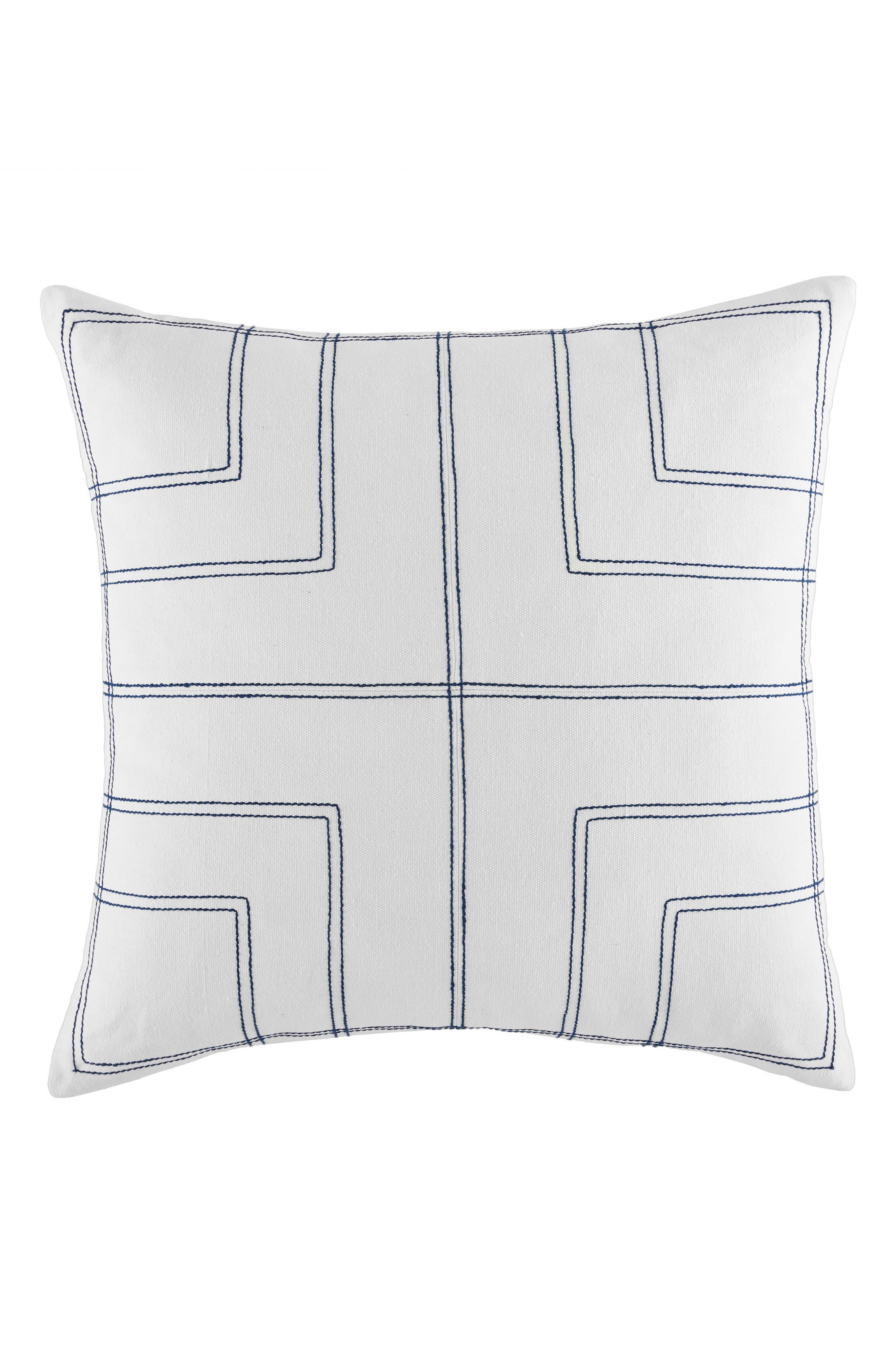 Quadrant Accent Pillow,                         Main,                         color, White