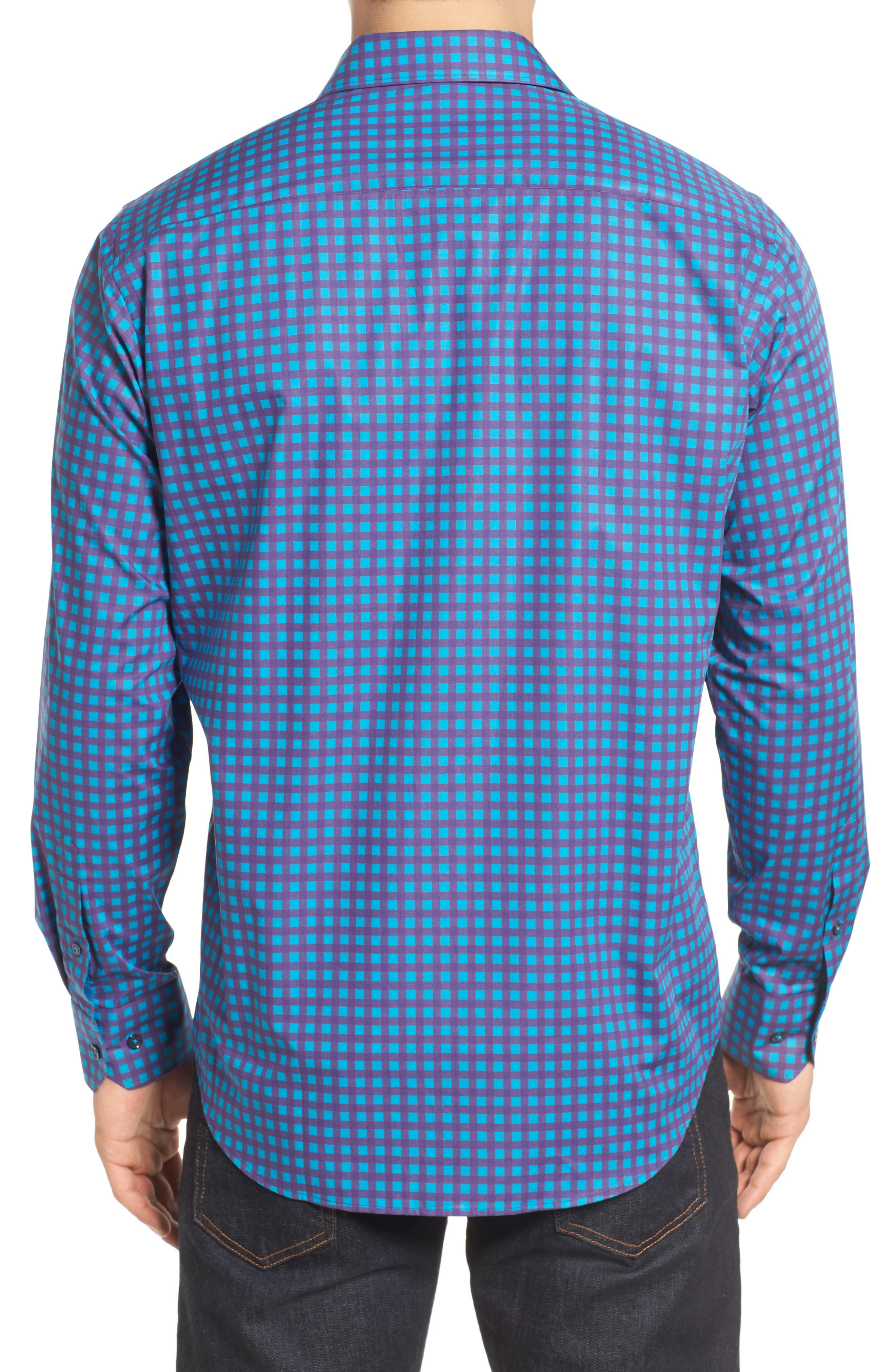 Classic Fit Sport Shirt,                             Alternate thumbnail 2, color,                             Plum