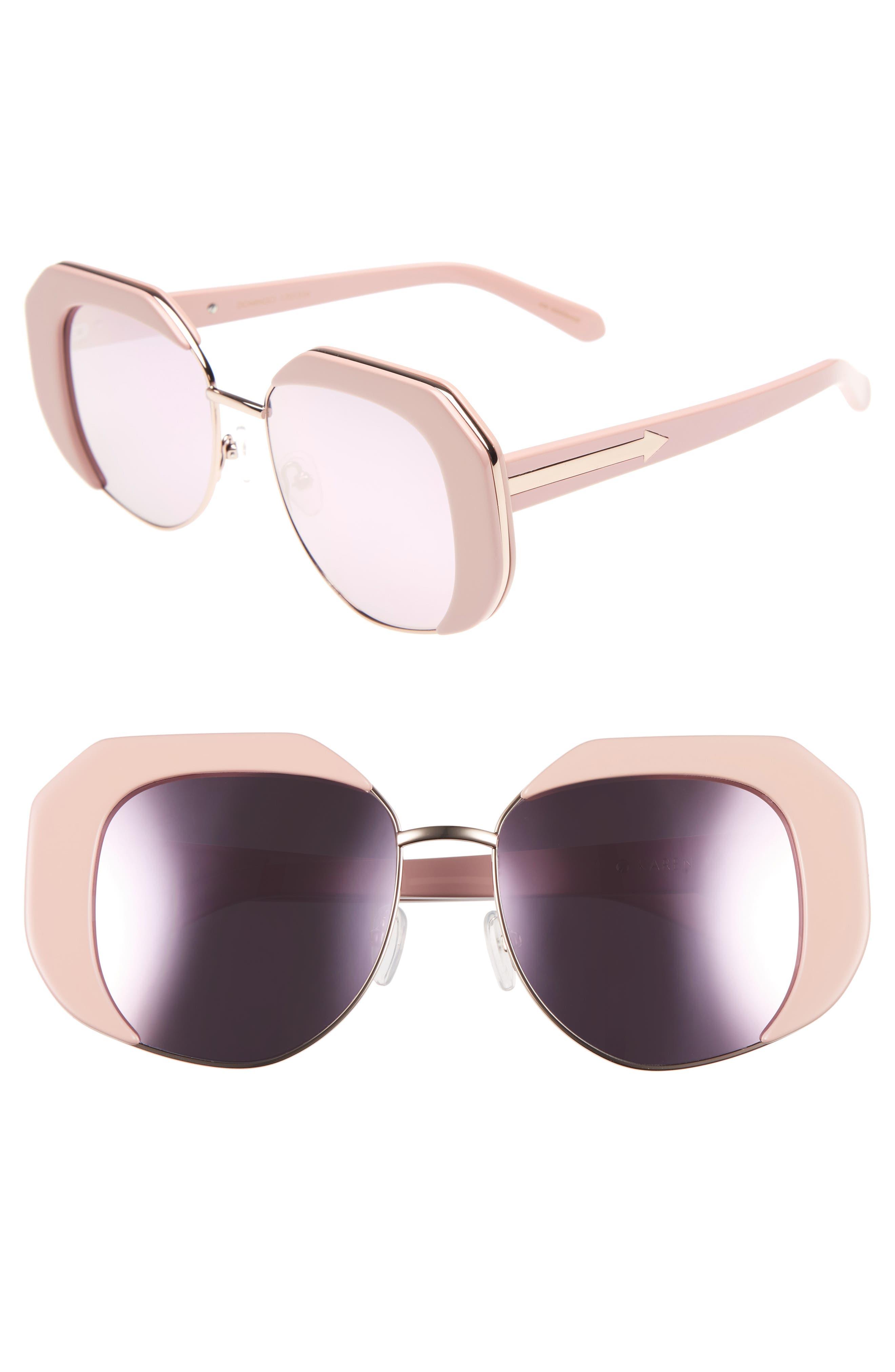 Domingo 52mm Sunglasses,                             Main thumbnail 1, color,                             Pink/ Rose Gold