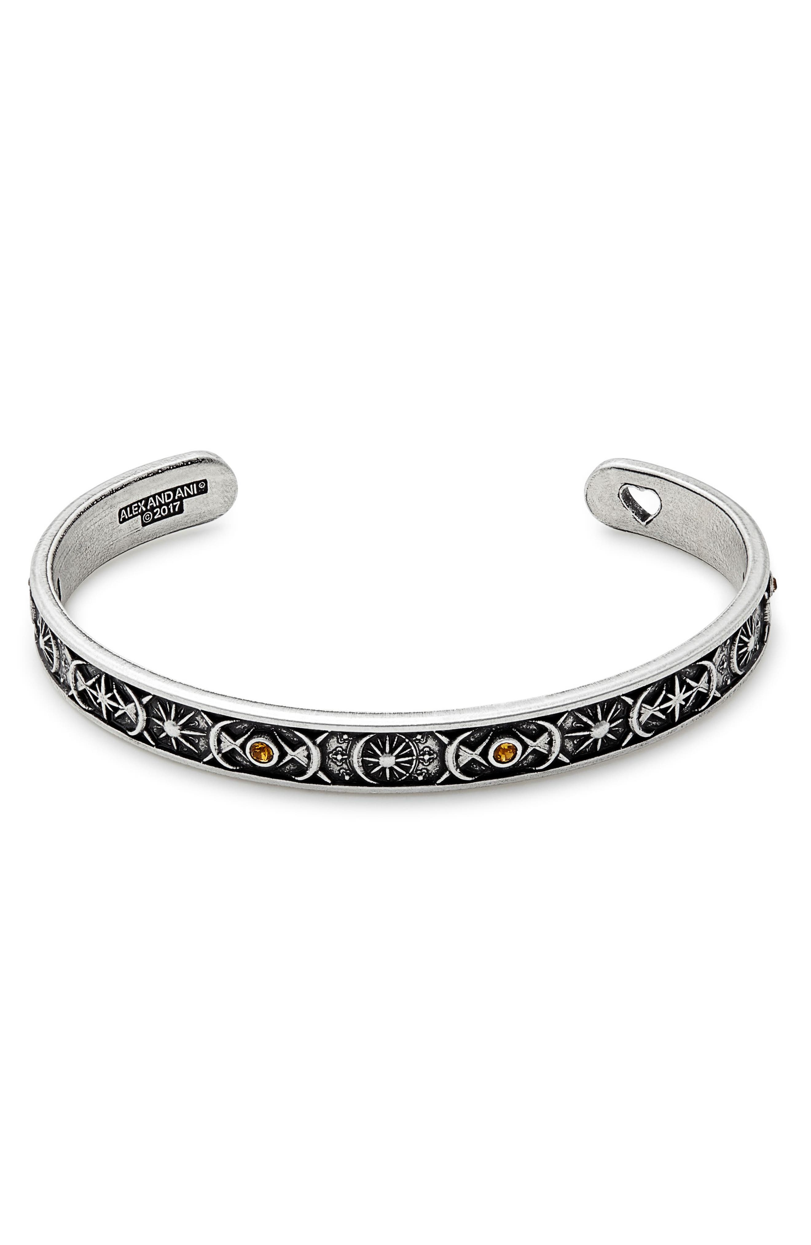 Cosmic Balance Cuff,                         Main,                         color, Silver