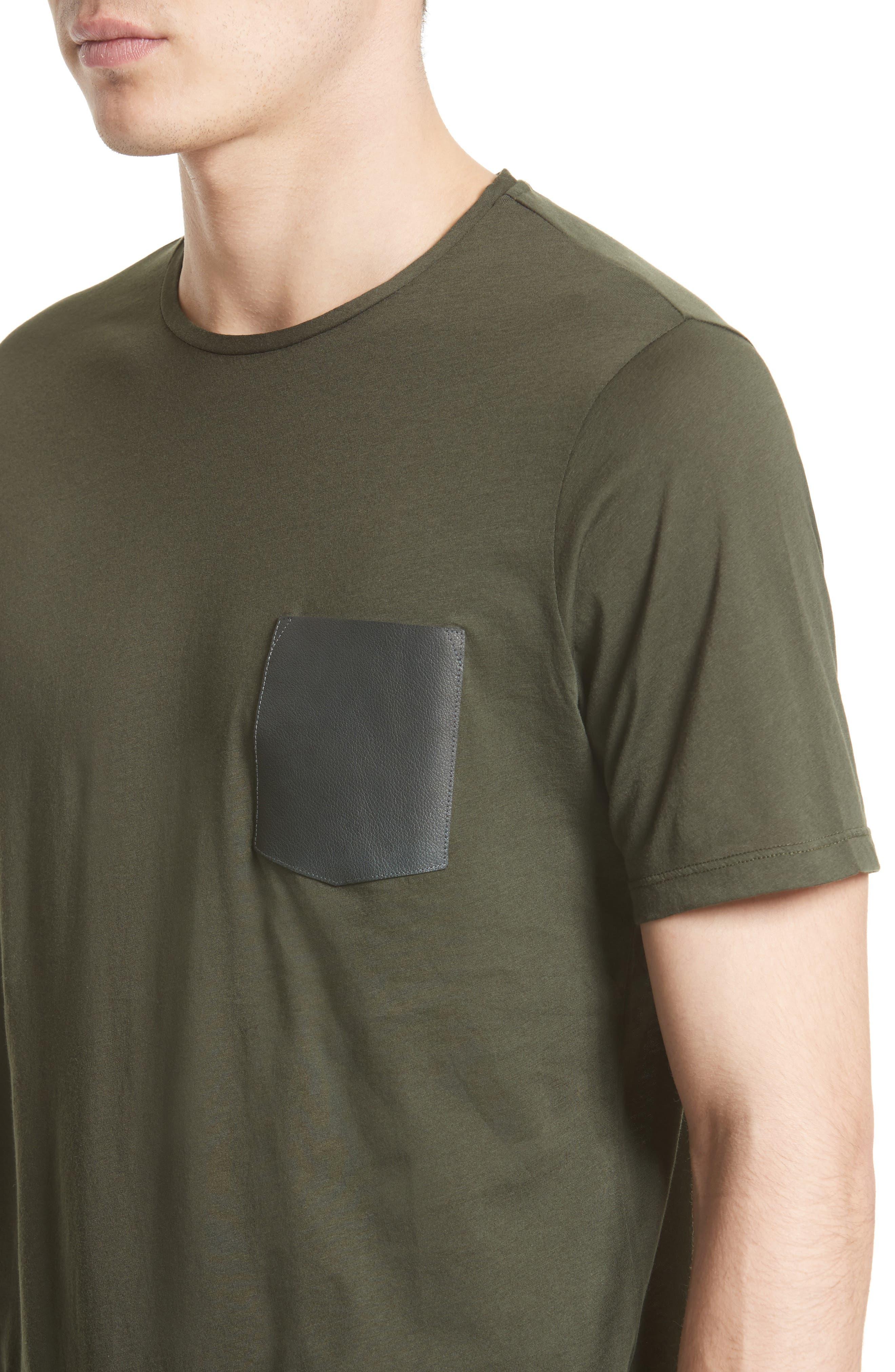 Alternate Image 4  - The Kooples Leather Pocket T-Shirt