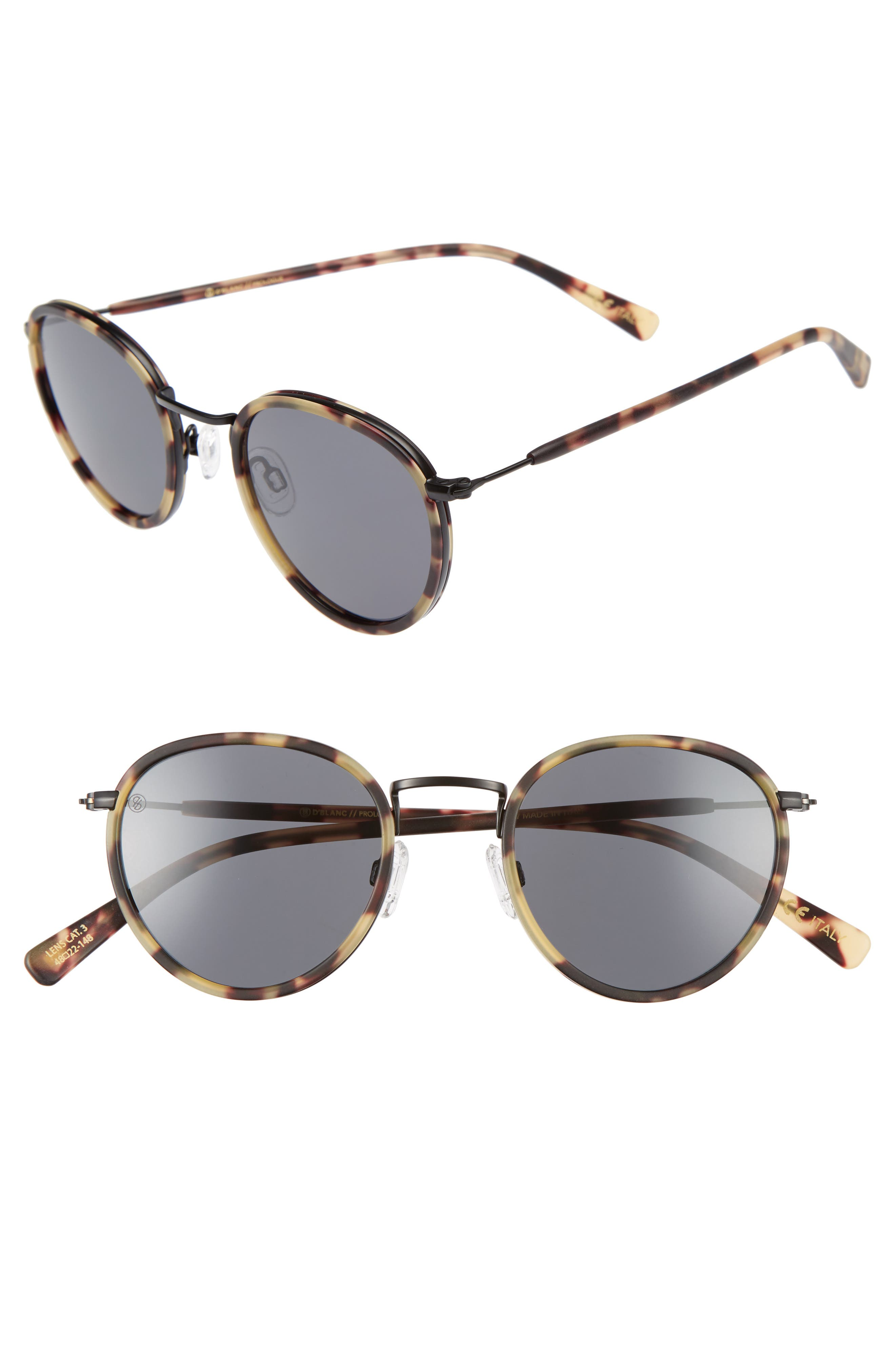 DBLANC DBLANC Prologue 48mm Round Sunglasses