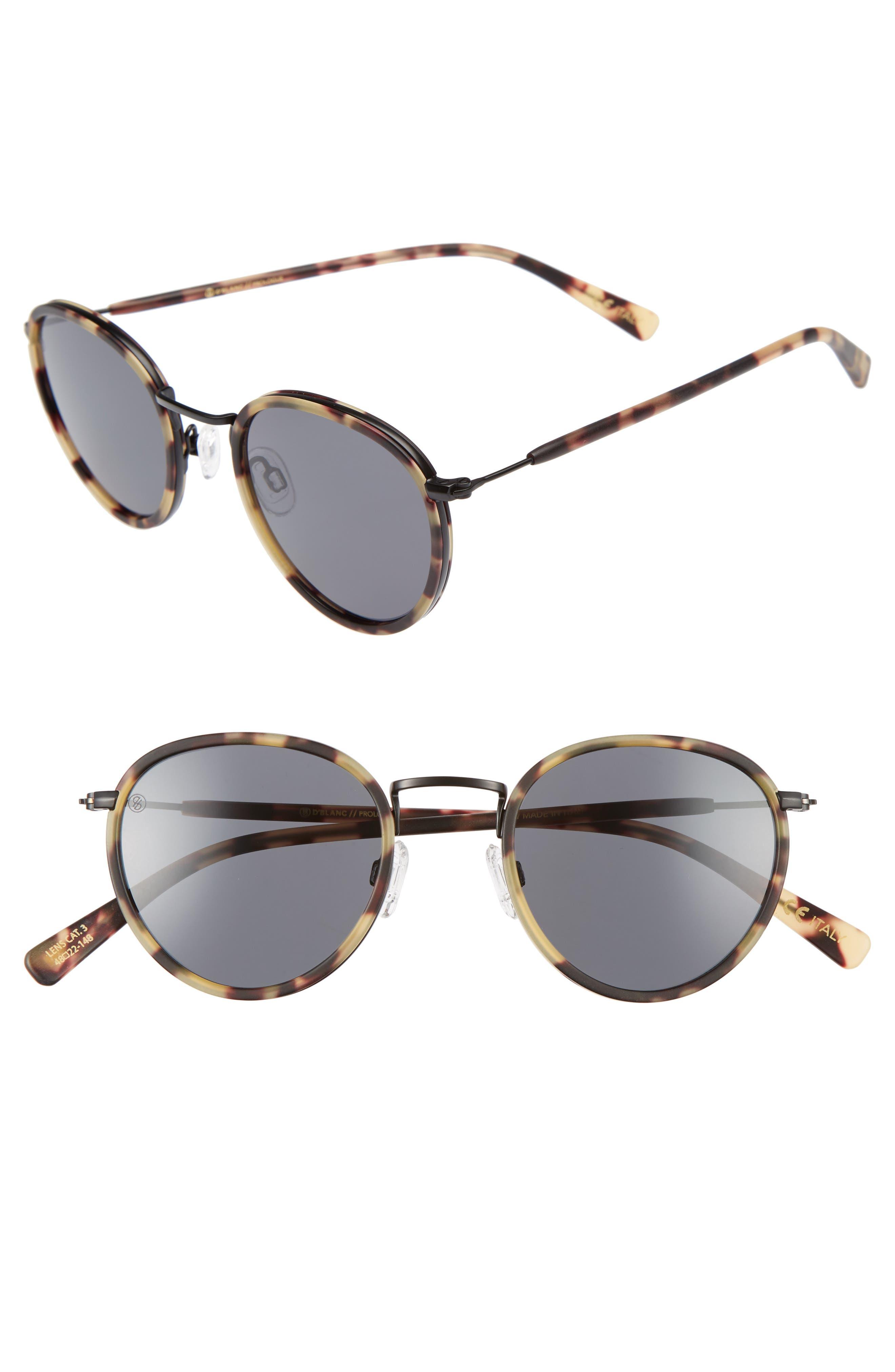 D'BLANC Prologue 48mm Round Sunglasses