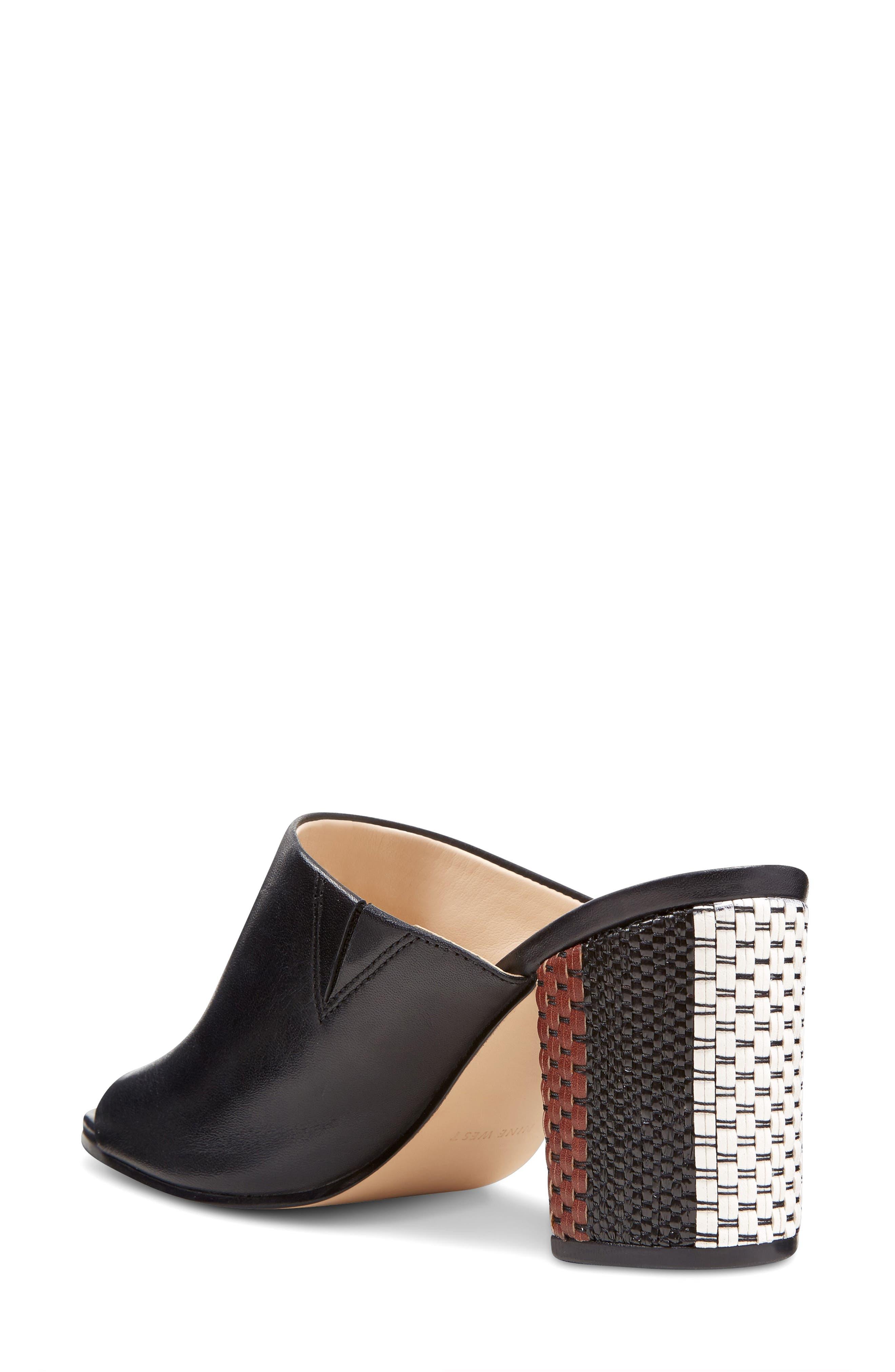 Alternate Image 2  - Nine West Gemily Block Heel Slide Sandal (Women)