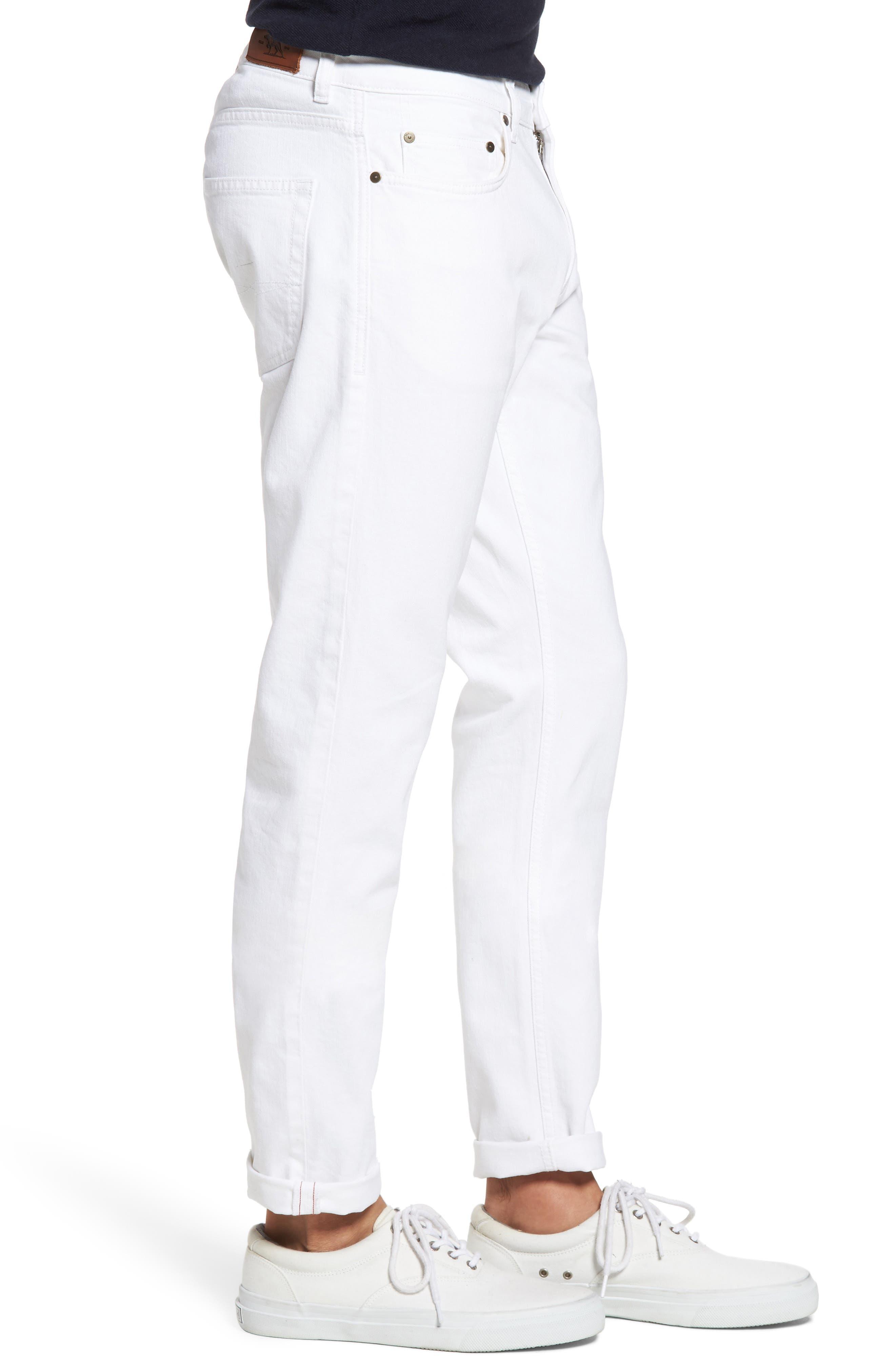 Allemand Straight Leg Jeans,                             Alternate thumbnail 3, color,                             Snow