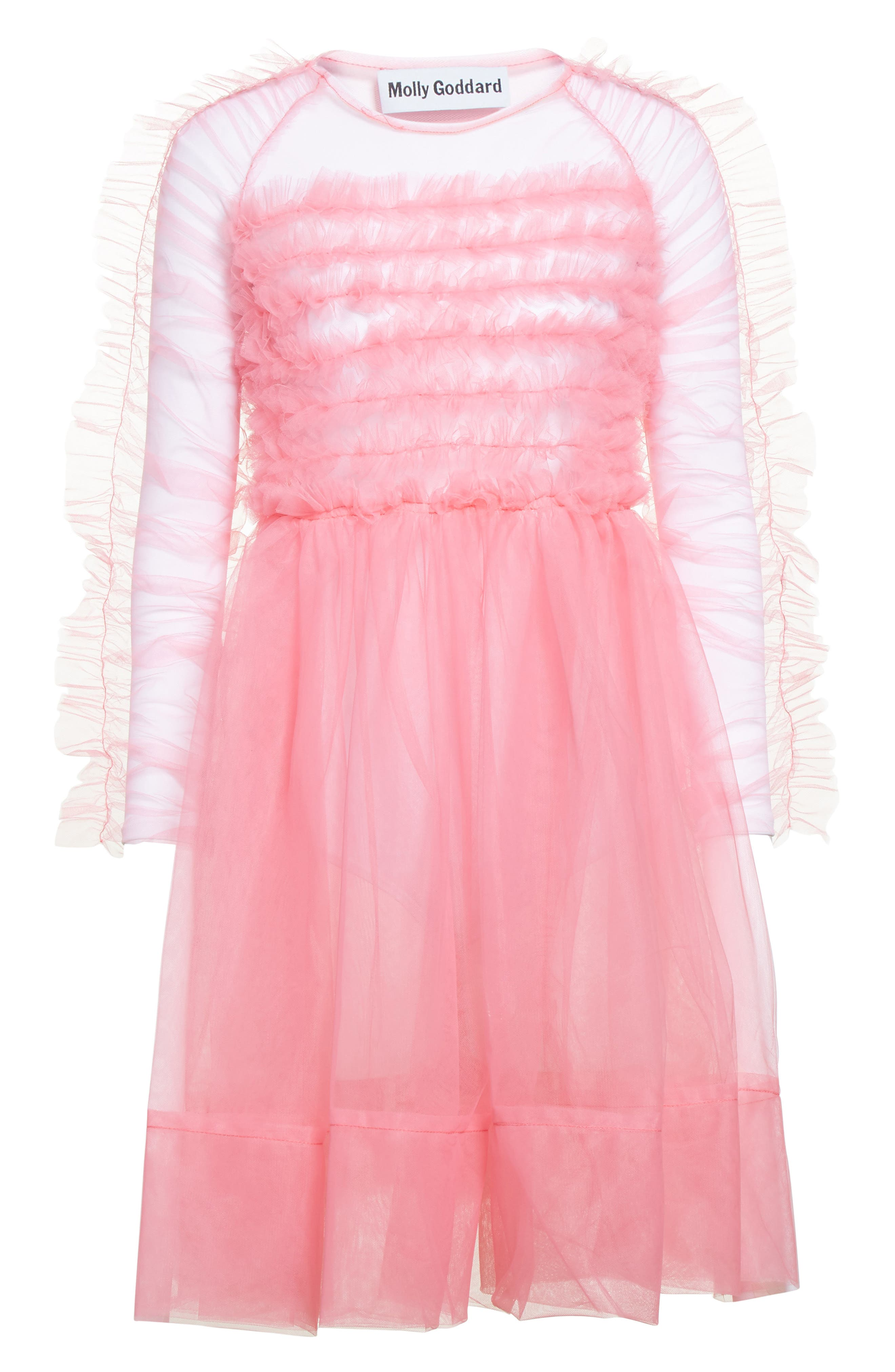 Funky Tulle Dress,                             Alternate thumbnail 4, color,                             Pink