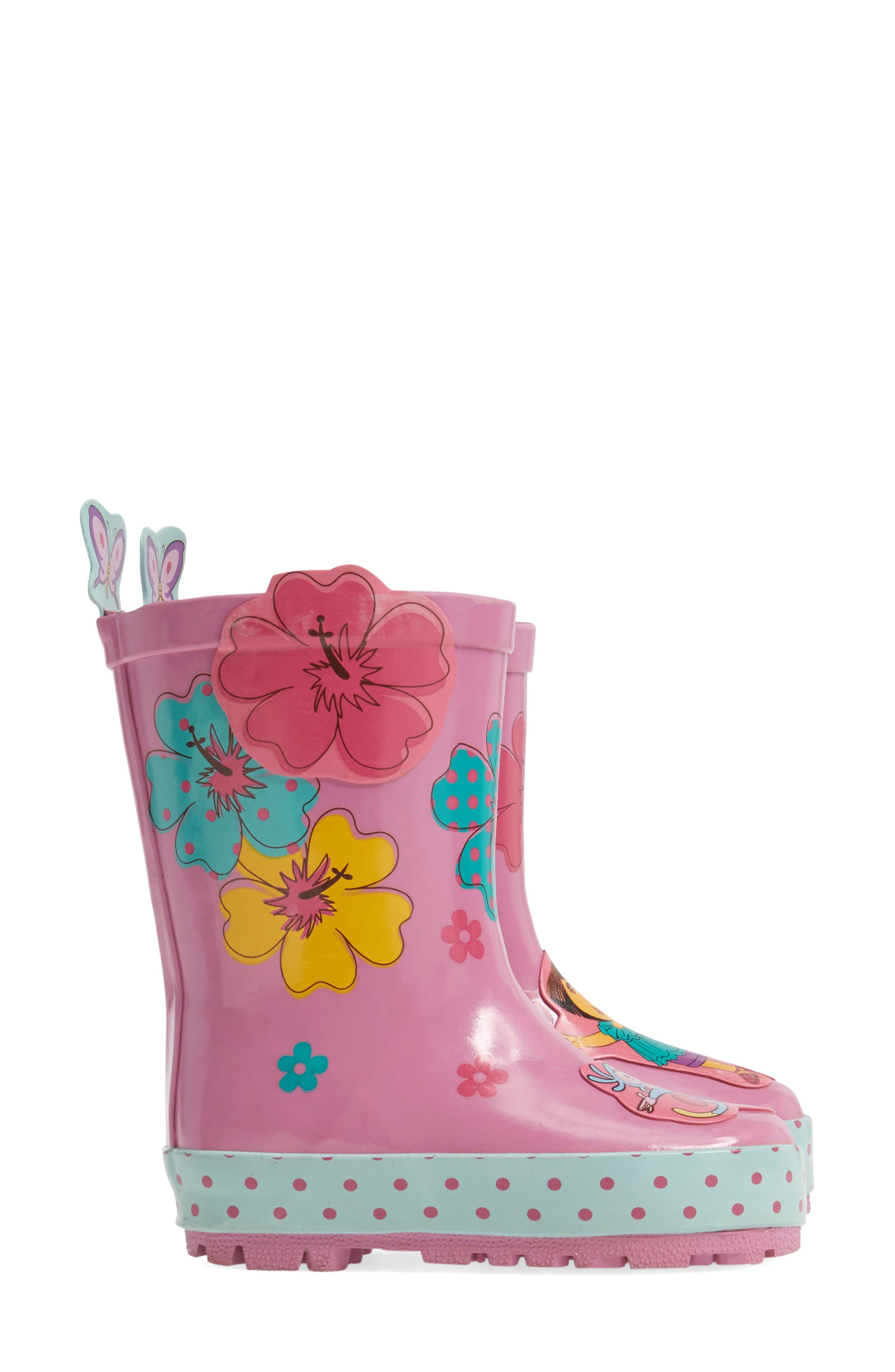 Alternate Image 4  - Kidorable Dora the Explorer Rain Boot (Walker, Toddler & Little Kid)