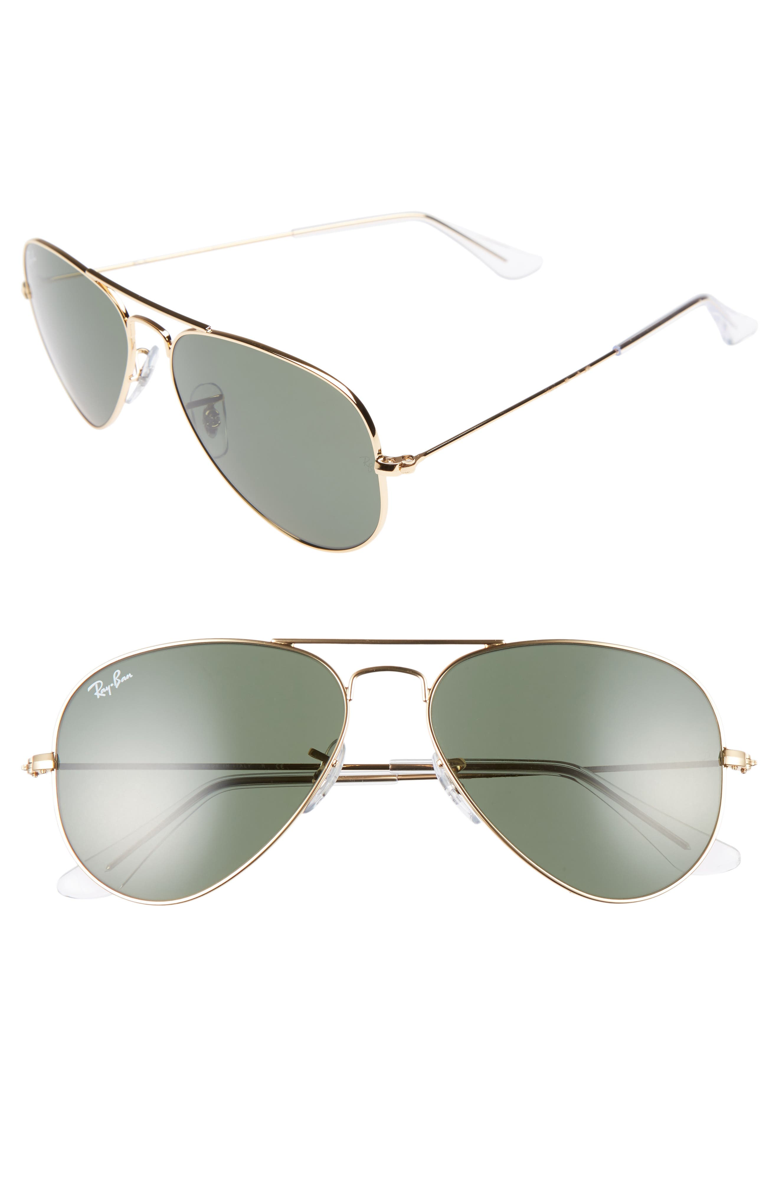 Alternate Image 1 Selected - Ray-Ban Small Original 55mm Aviator Sunglasses