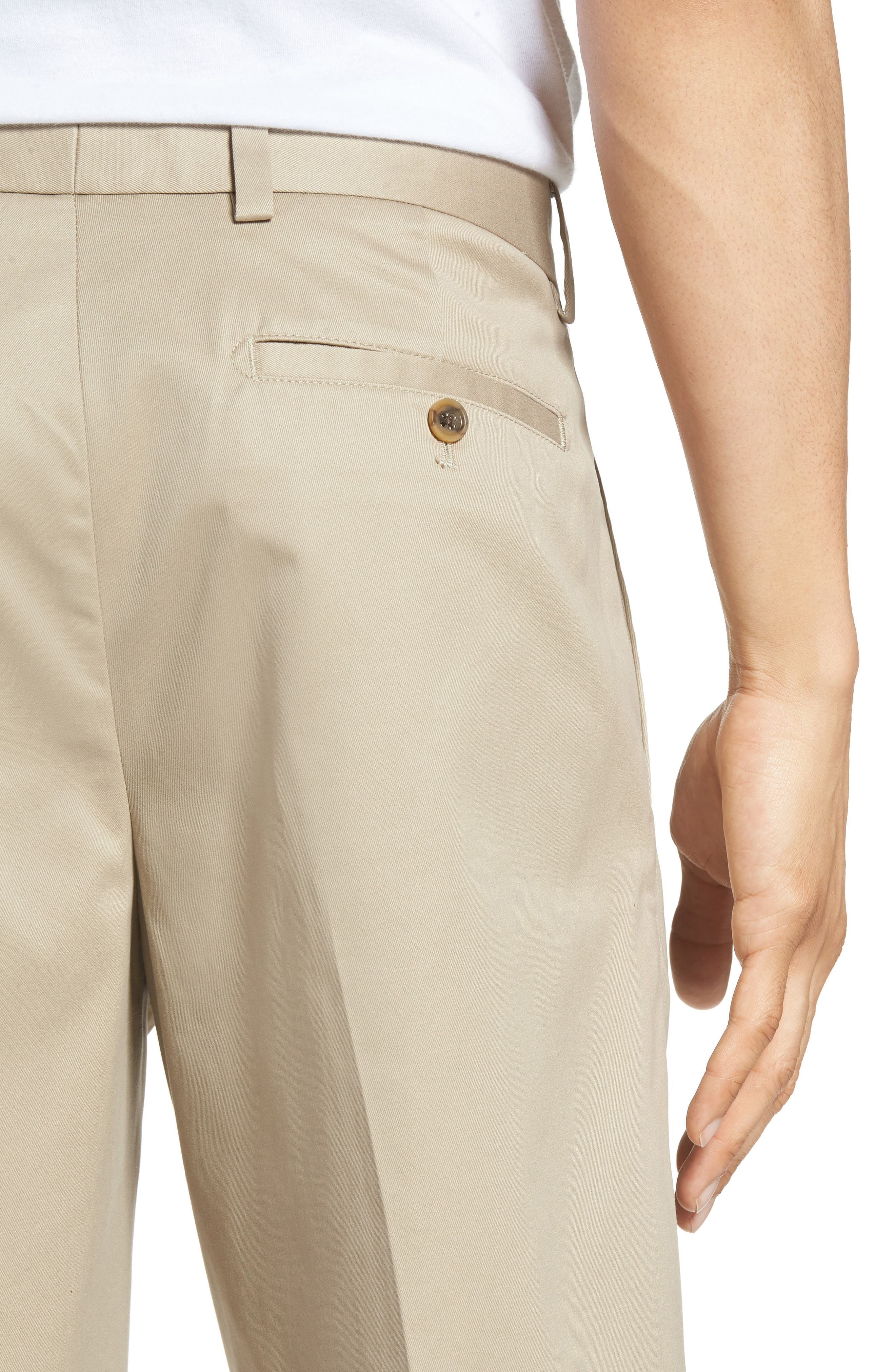 Smartcare<sup>™</sup> Pleated Shorts,                             Alternate thumbnail 4, color,                             Tan