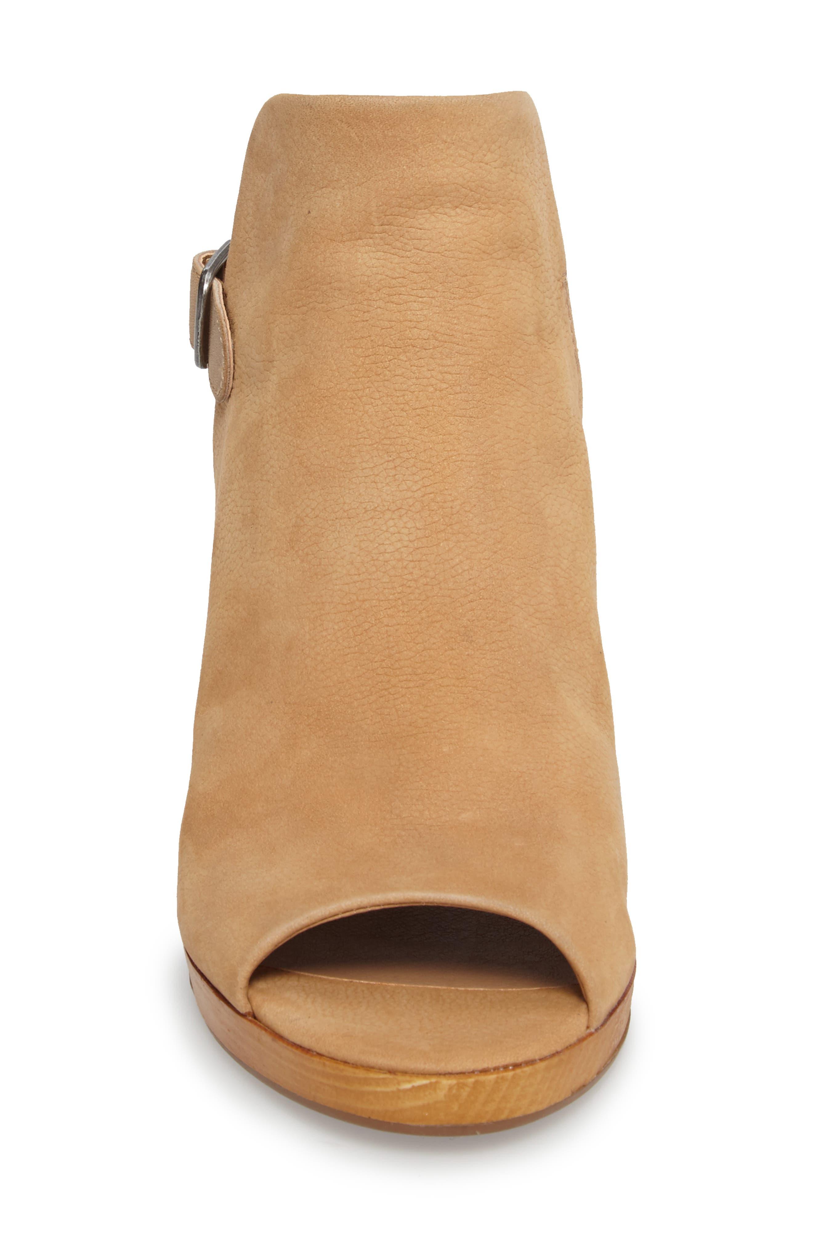Keralin Wedge Sandal,                             Alternate thumbnail 4, color,                             Glazed Leather