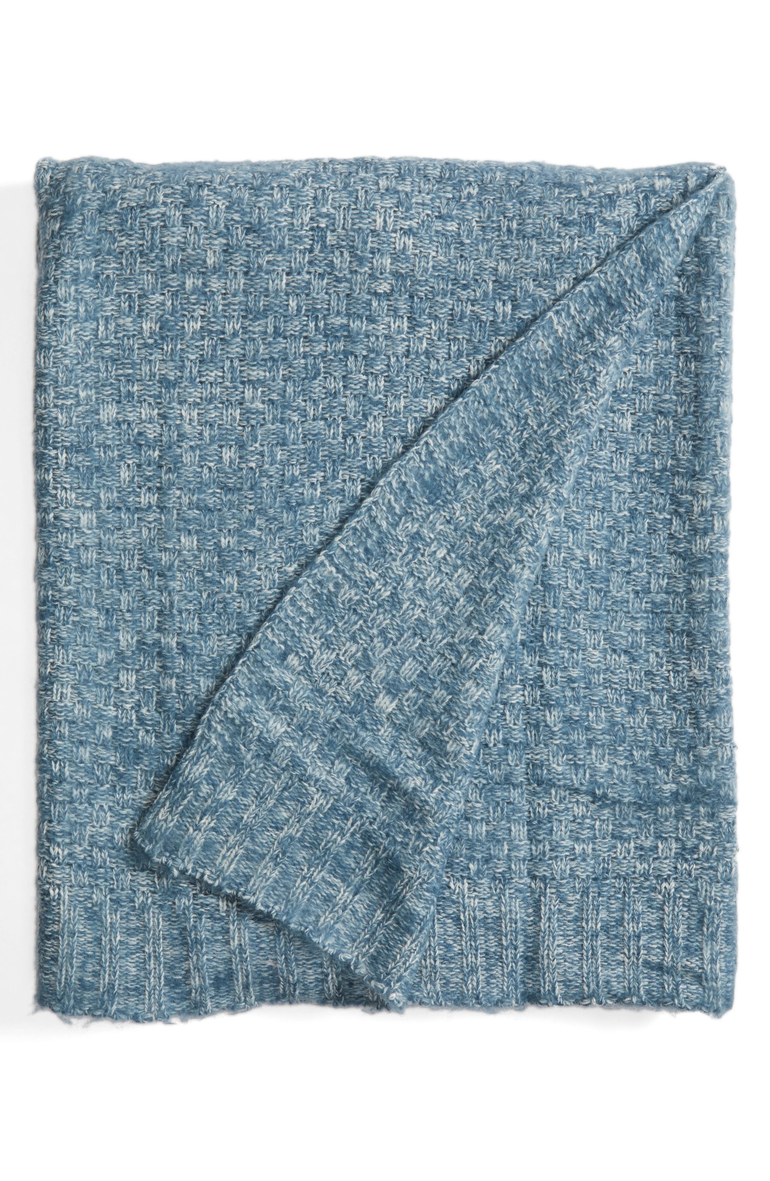 Nordstrom at Home Brushed Seed Stitch Throw Blanket