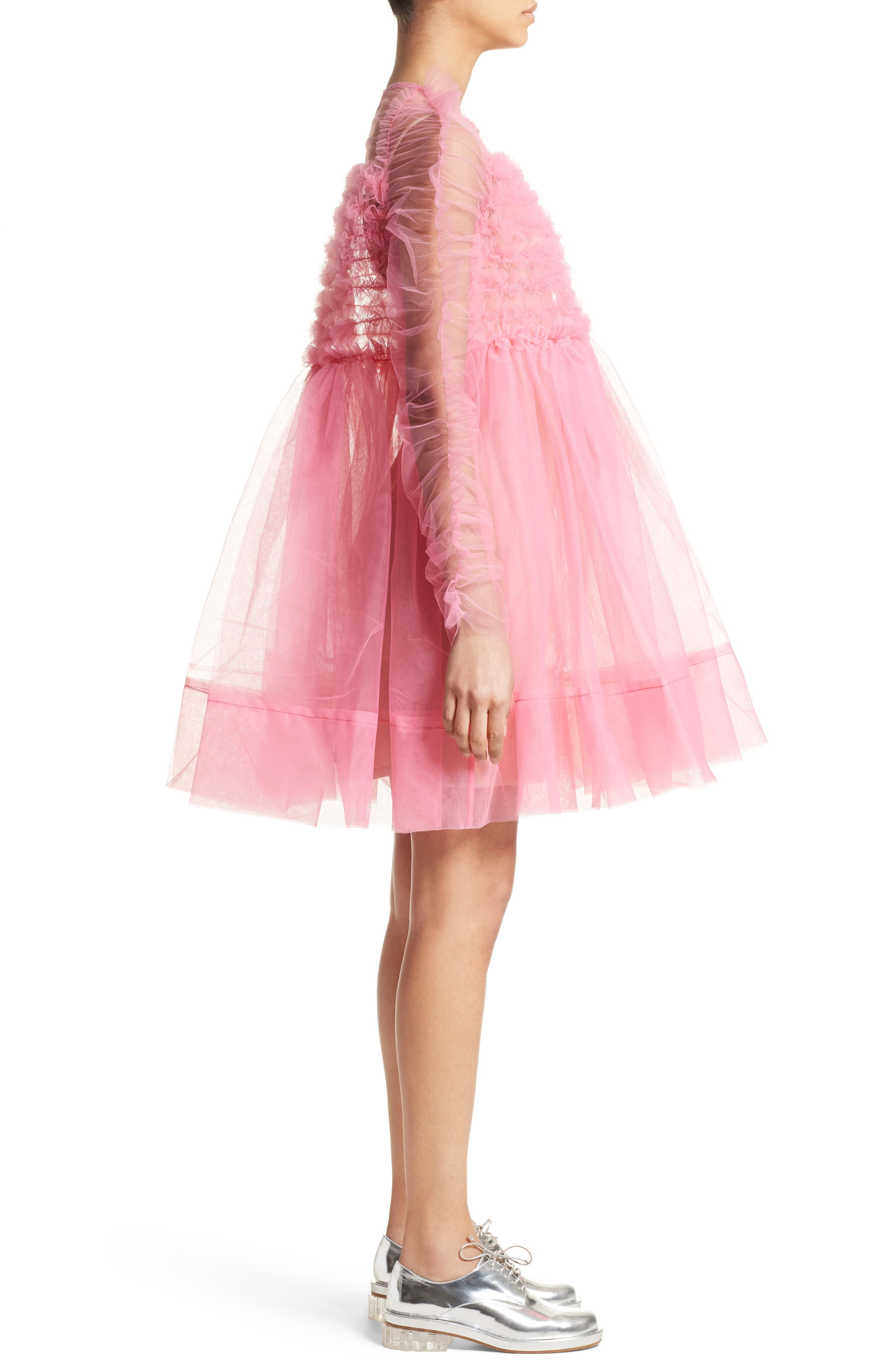 Funky Tulle Dress,                             Alternate thumbnail 5, color,                             Pink