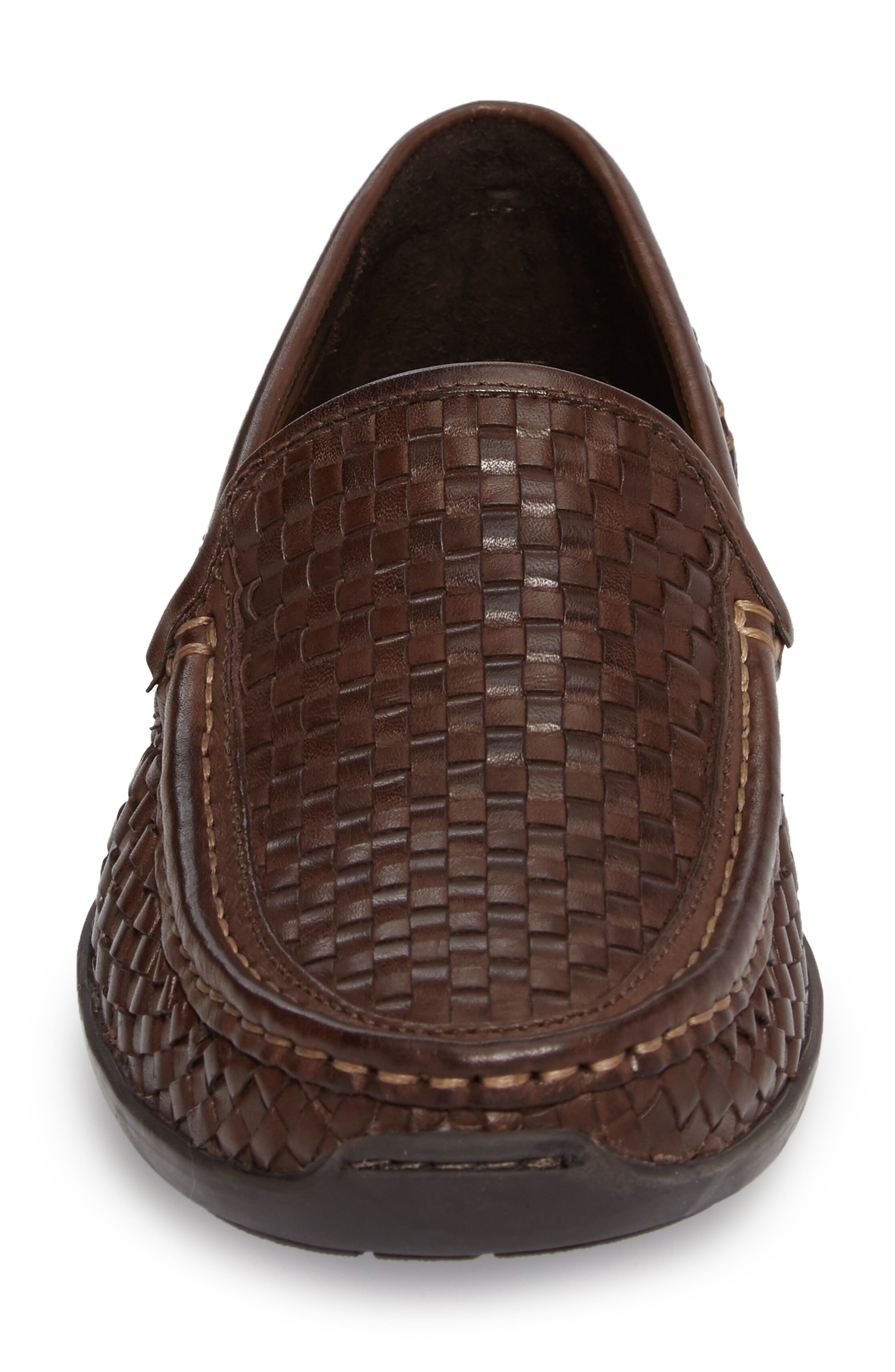 Orson Driving Shoe,                             Alternate thumbnail 4, color,                             Dark Brown Leather