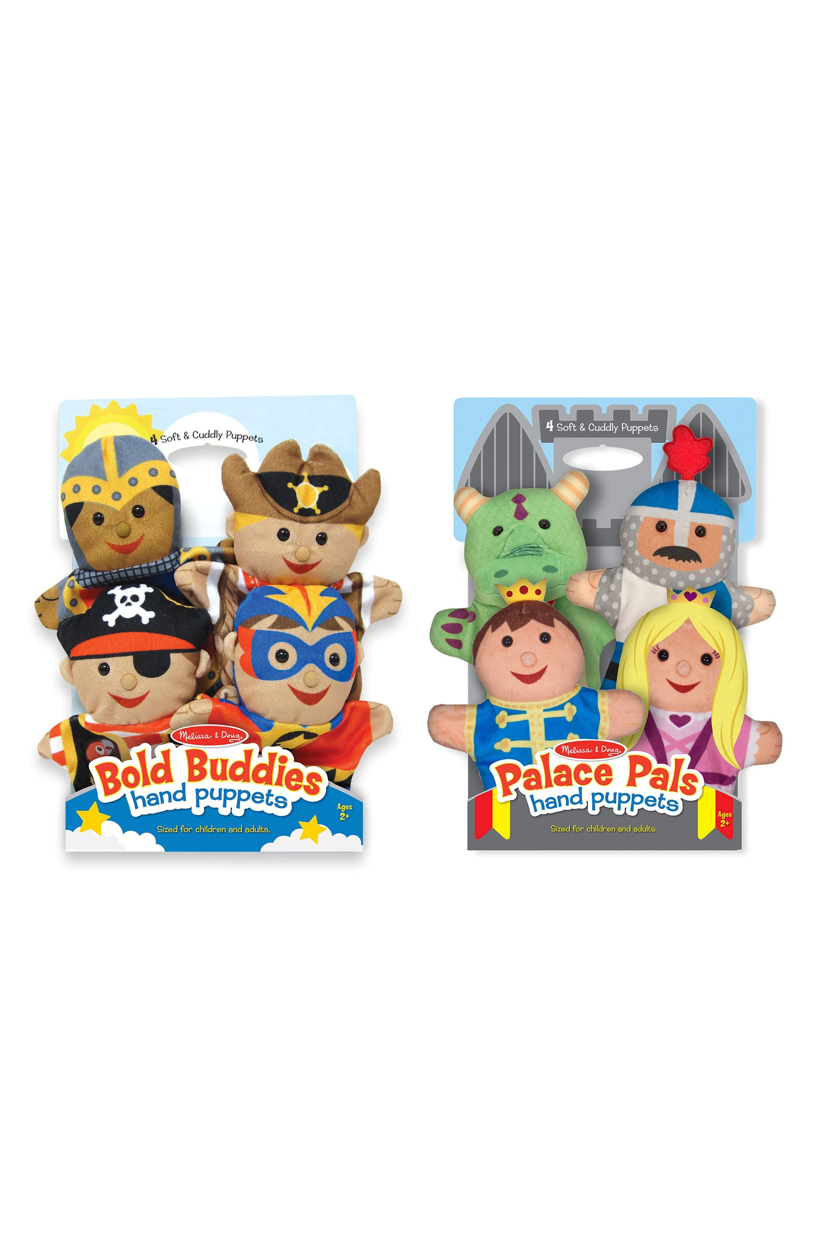 Toy Hand Puppet Set,                             Alternate thumbnail 2, color,                             Multi