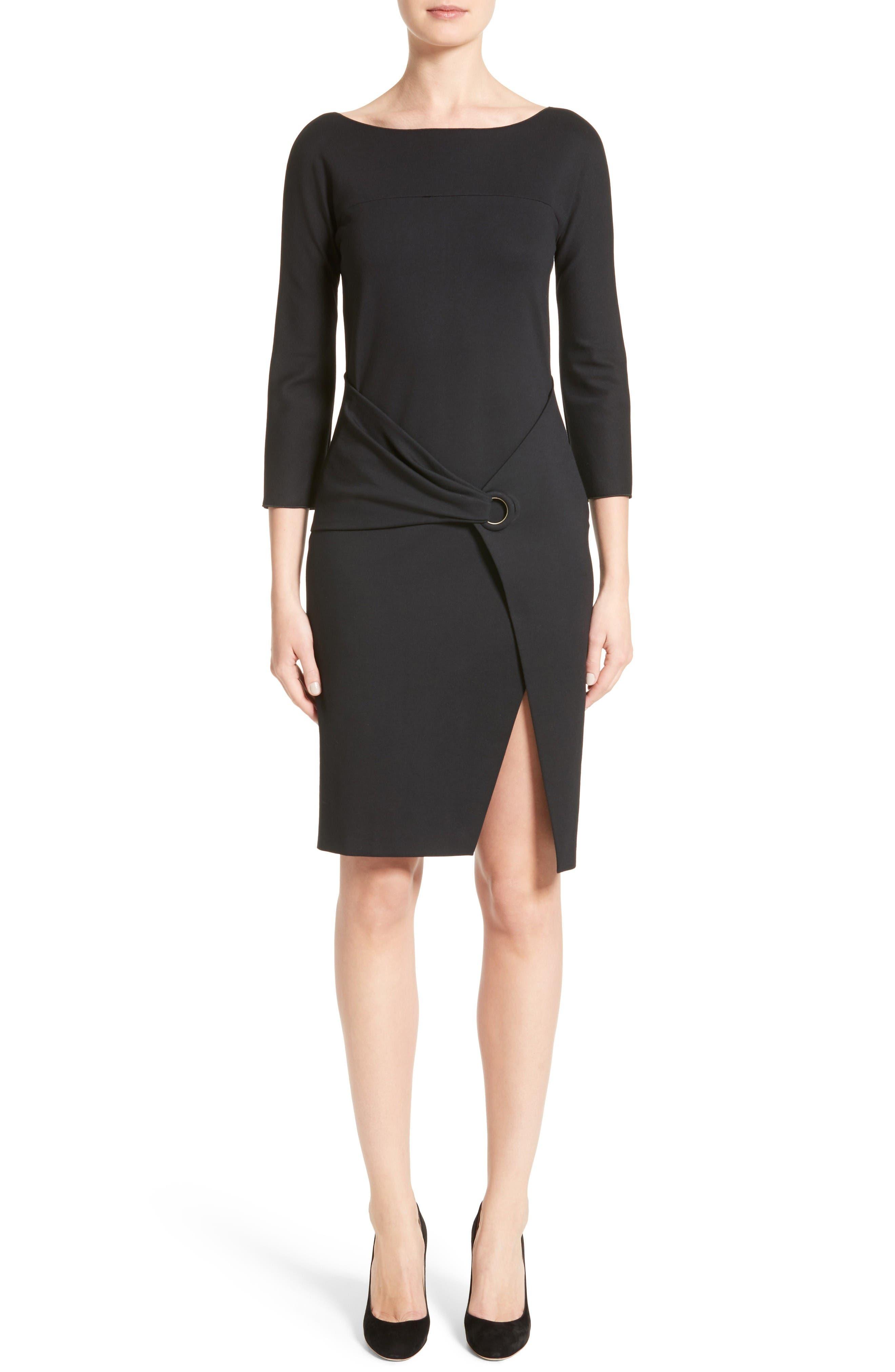 Alternate Image 1 Selected - Armani Collezioni Grommet Detail Milano Jersey Dress