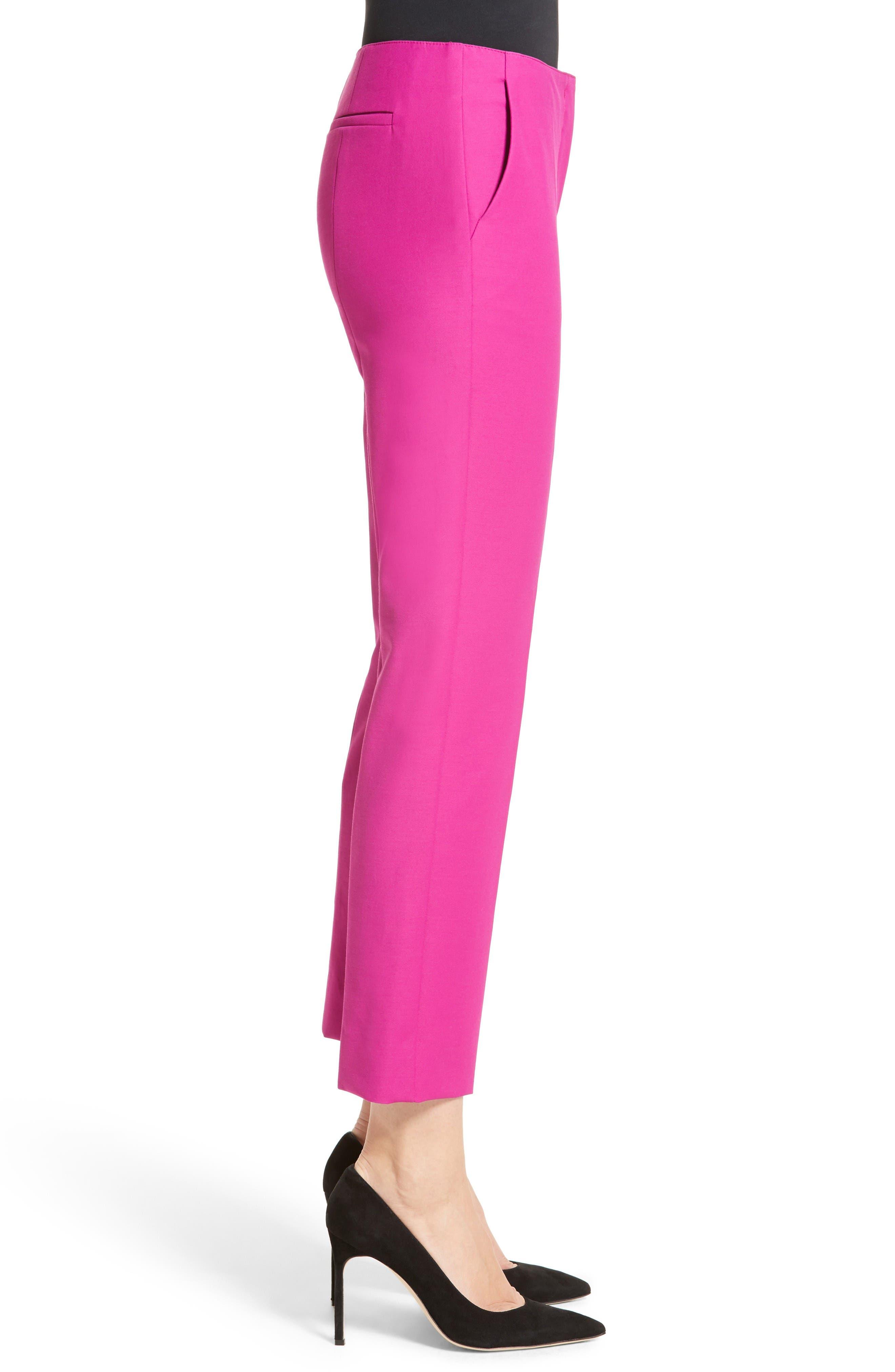 Tech Cotton Blend Slim Pants,                             Alternate thumbnail 5, color,                             Orchid