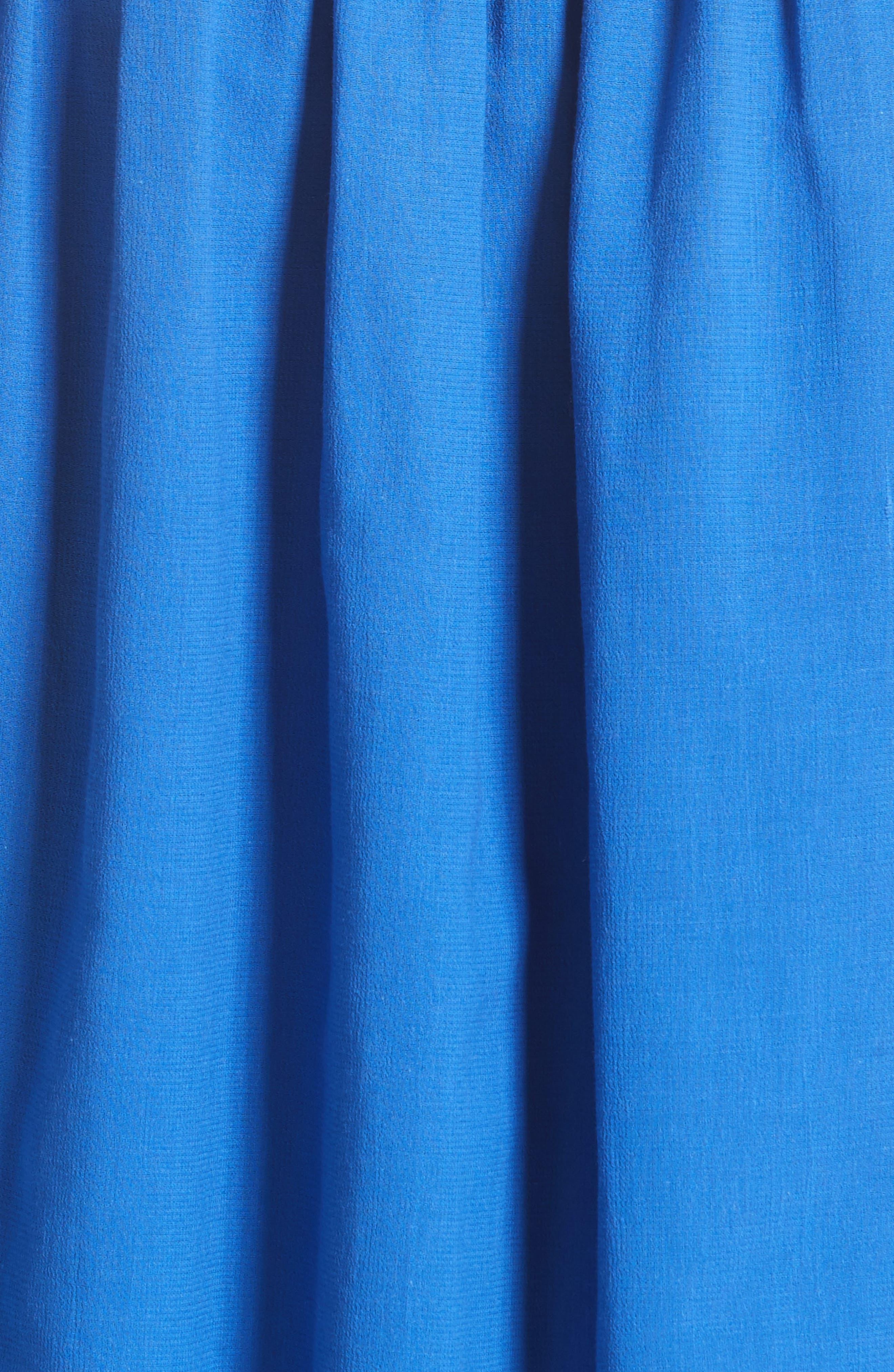 Akris Smocked Ruffle Skirt,                             Alternate thumbnail 3, color,                             Blue