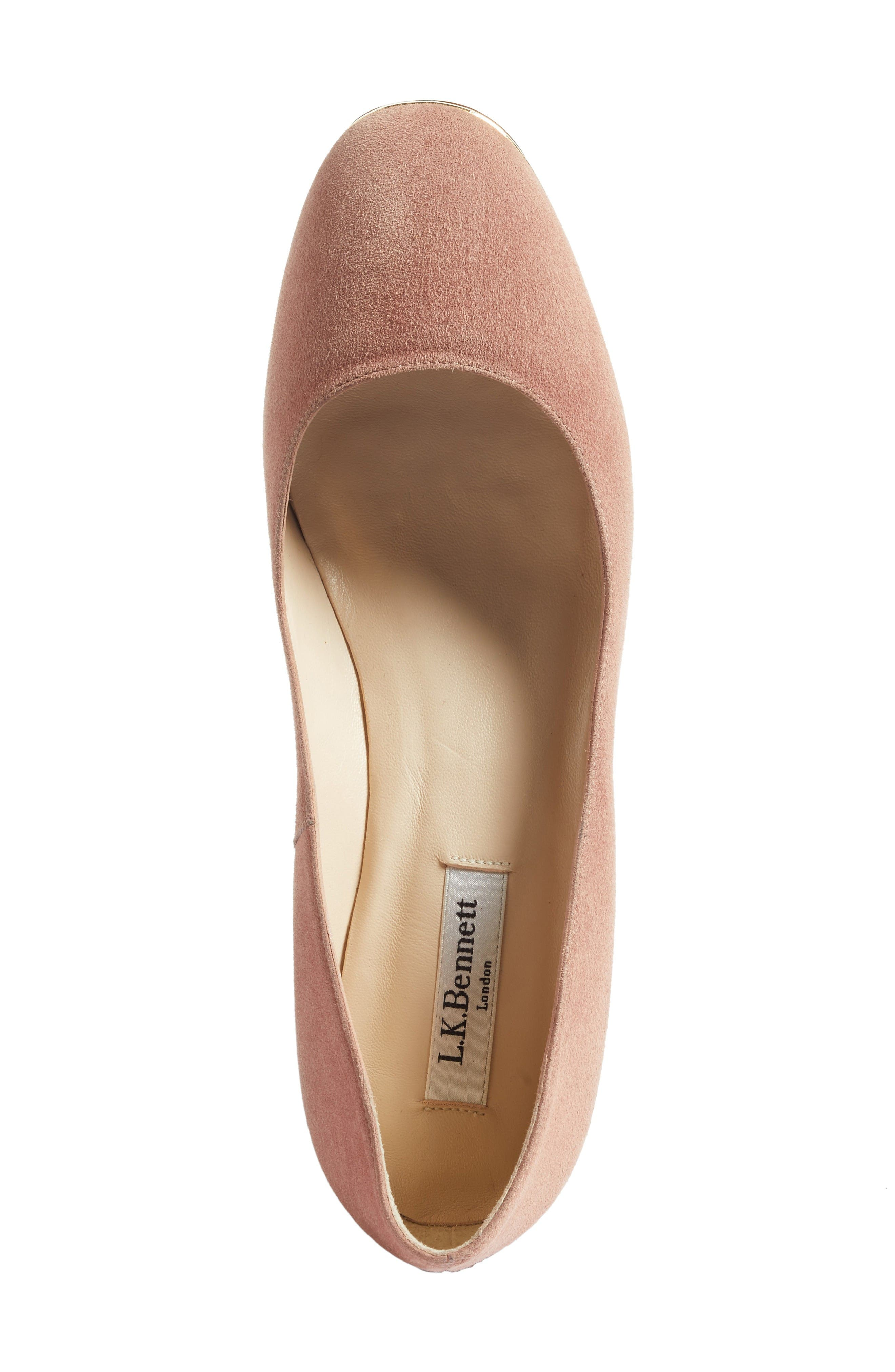 Clemence Pump,                             Alternate thumbnail 5, color,                             Pink/ Dark Pink