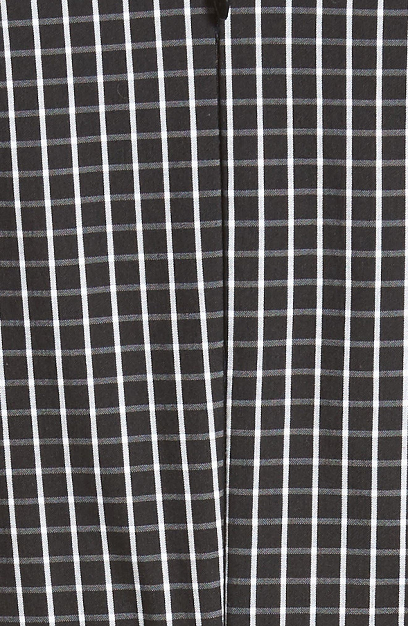 Alternate Image 3  - Michael Kors Windowpane Stretch Cotton Poplin Dress