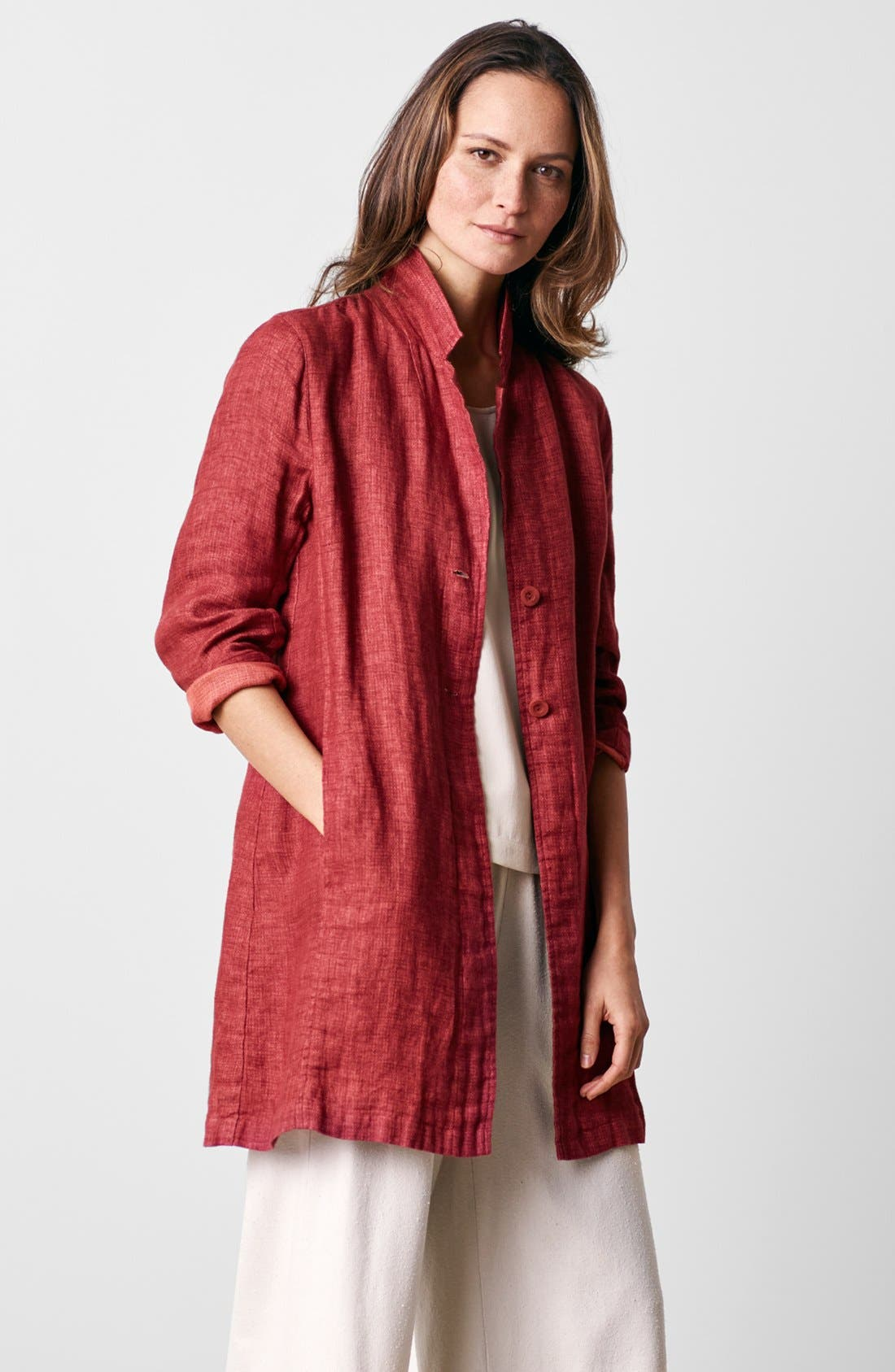 Alternate Image 7  - Eileen Fisher Silk Shell (Regular & Petite)