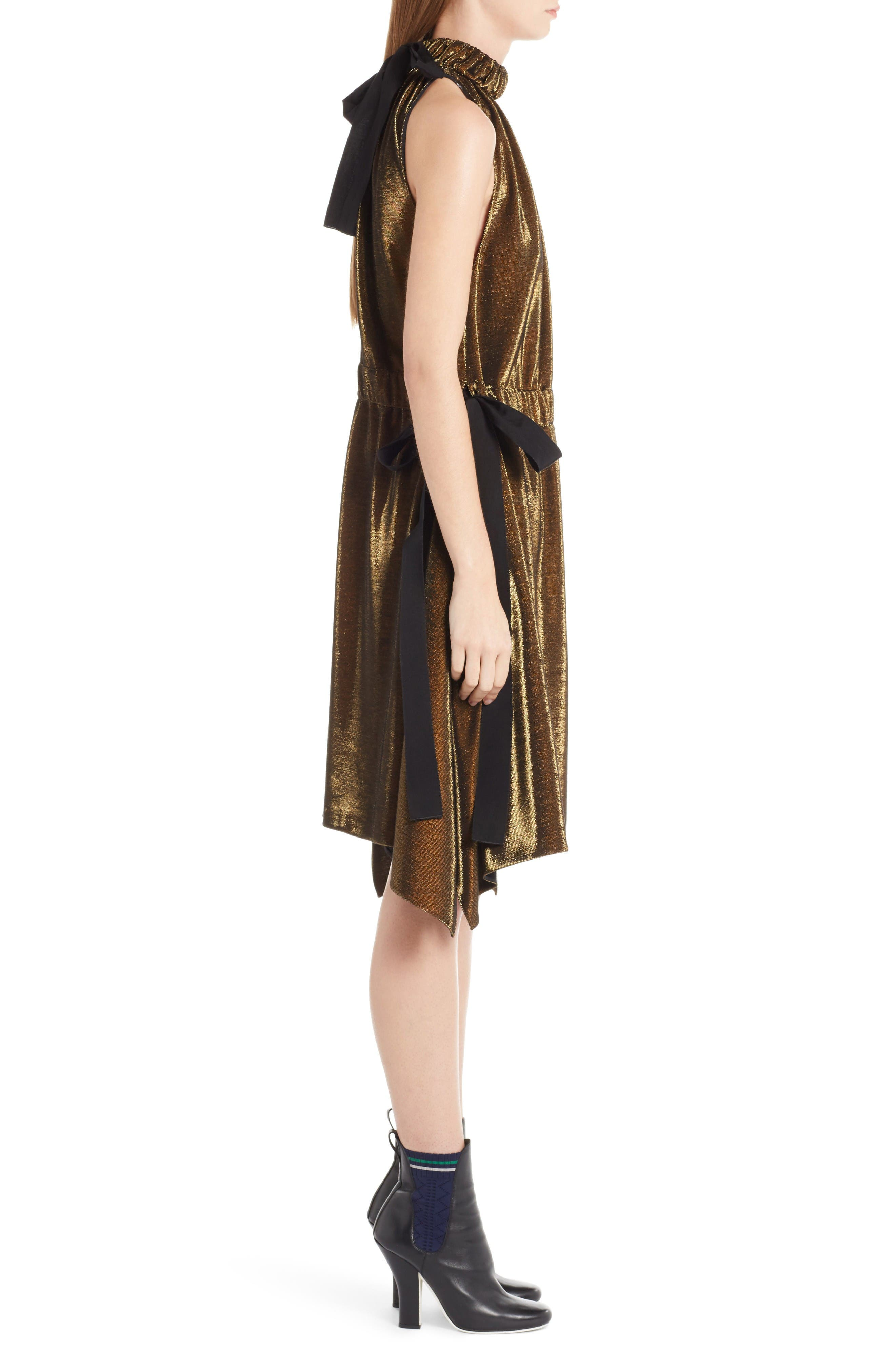 Alternate Image 4  - Fendi Metallic Jersey Halter Dress