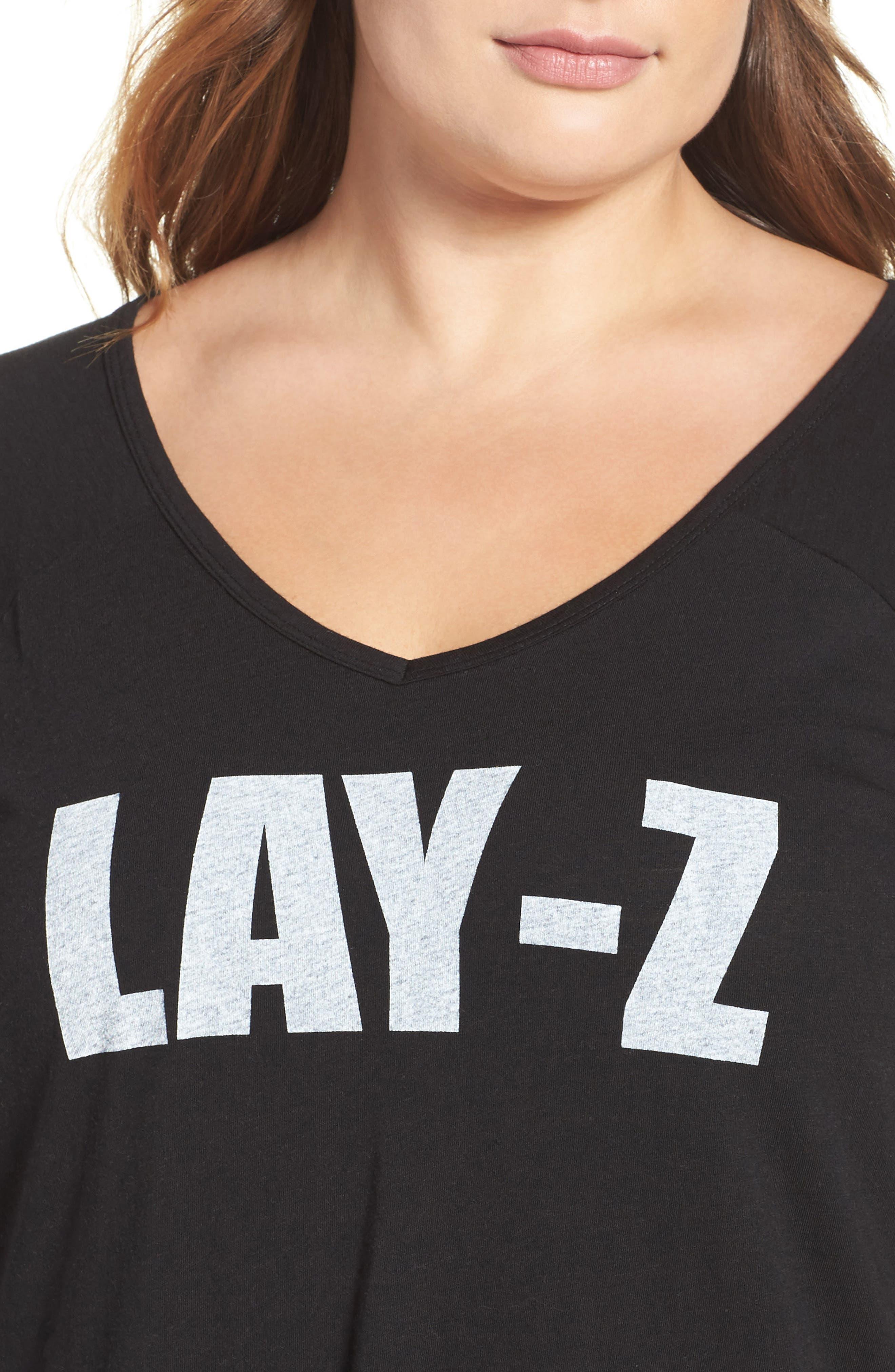 Alternate Image 4  - COZY ZOE Graphic Sleep Shirt (Plus Size)