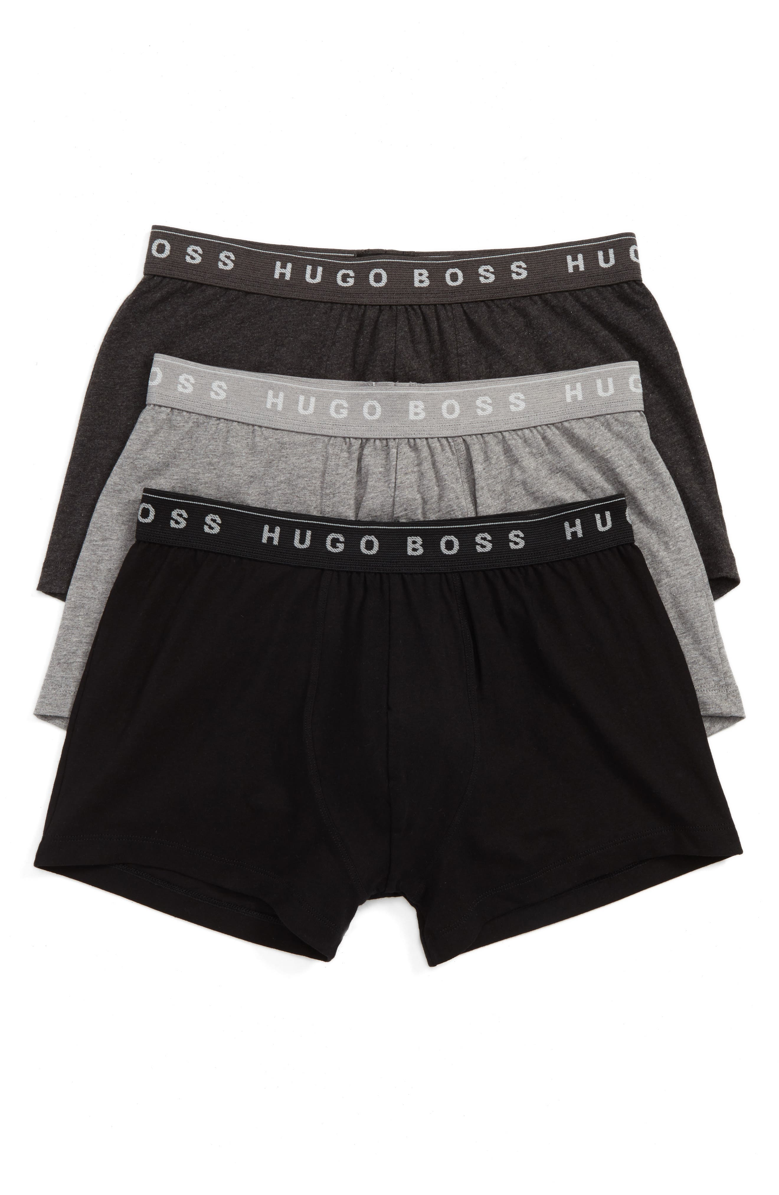 3-Pack Cotton Trunks,                         Main,                         color, Open Grey