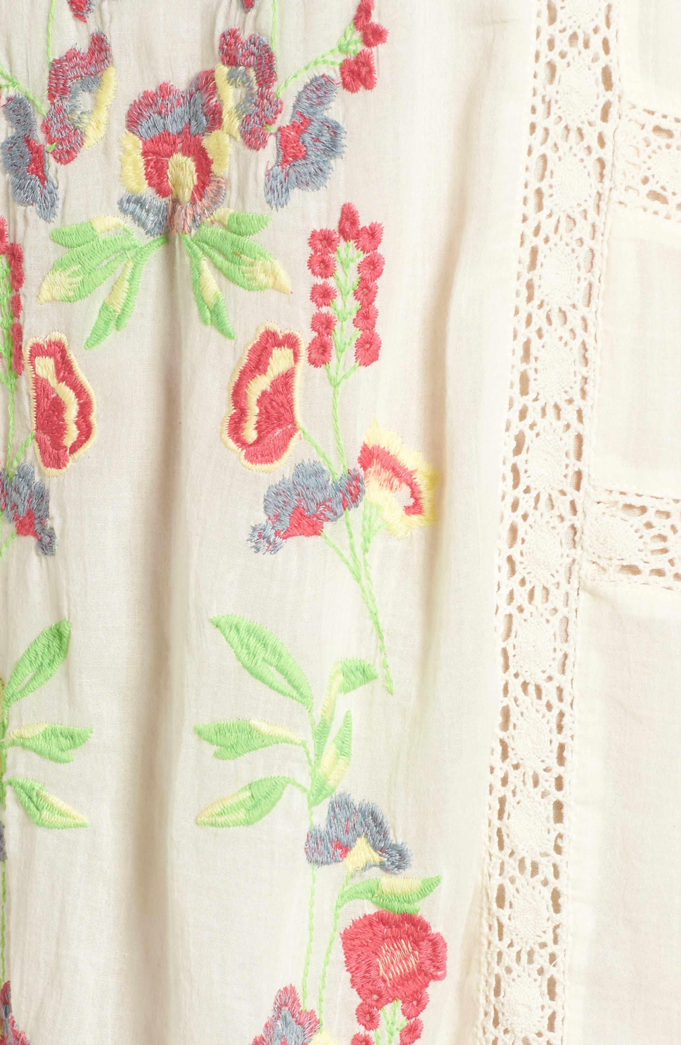 'Perfectly Victorian' Minidress,                             Alternate thumbnail 5, color,                             White
