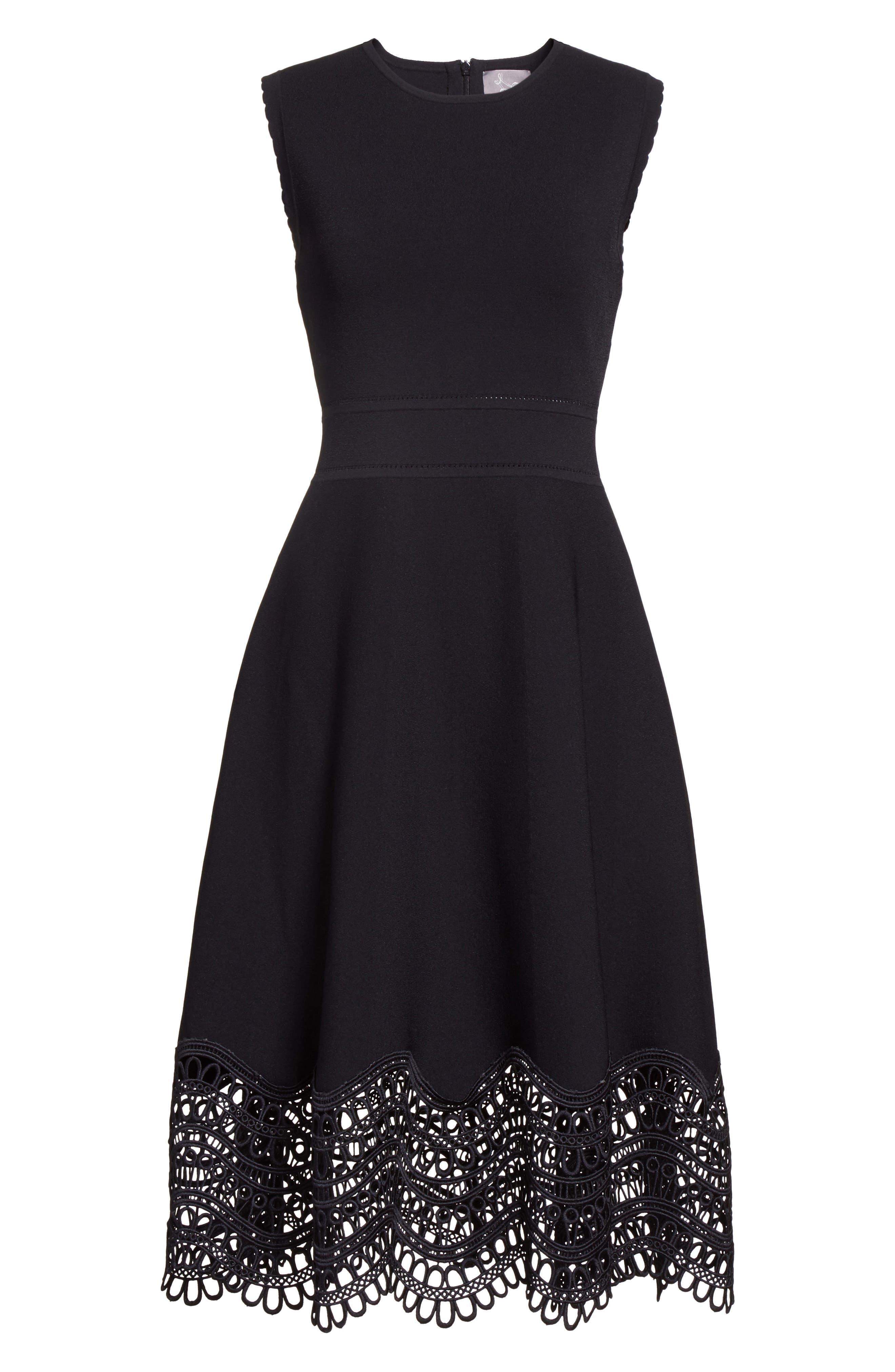 Alternate Image 4  - Lela Rose Lace Hem Dress