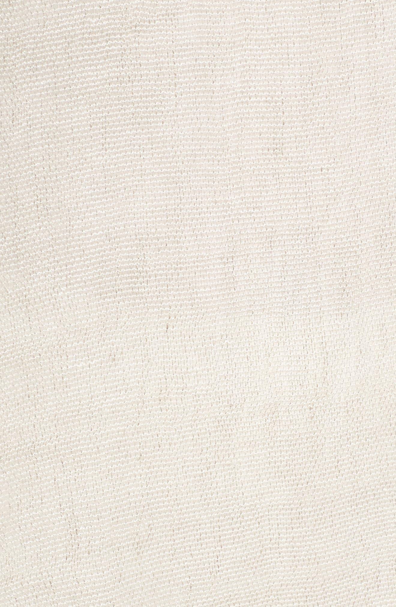 Organic Linen Blend Tunic,                             Alternate thumbnail 6, color,                             Unnatural