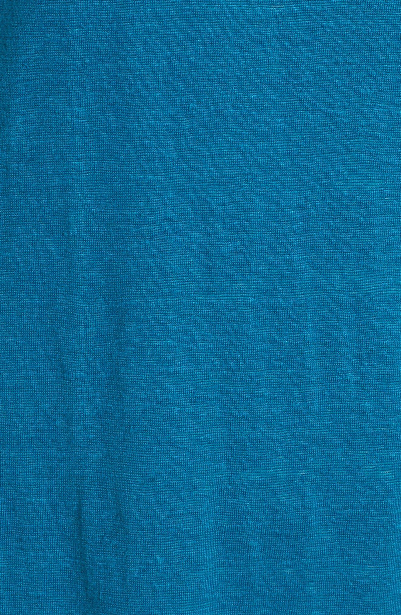 Organic Linen Tunic,                             Alternate thumbnail 5, color,                             Jewel